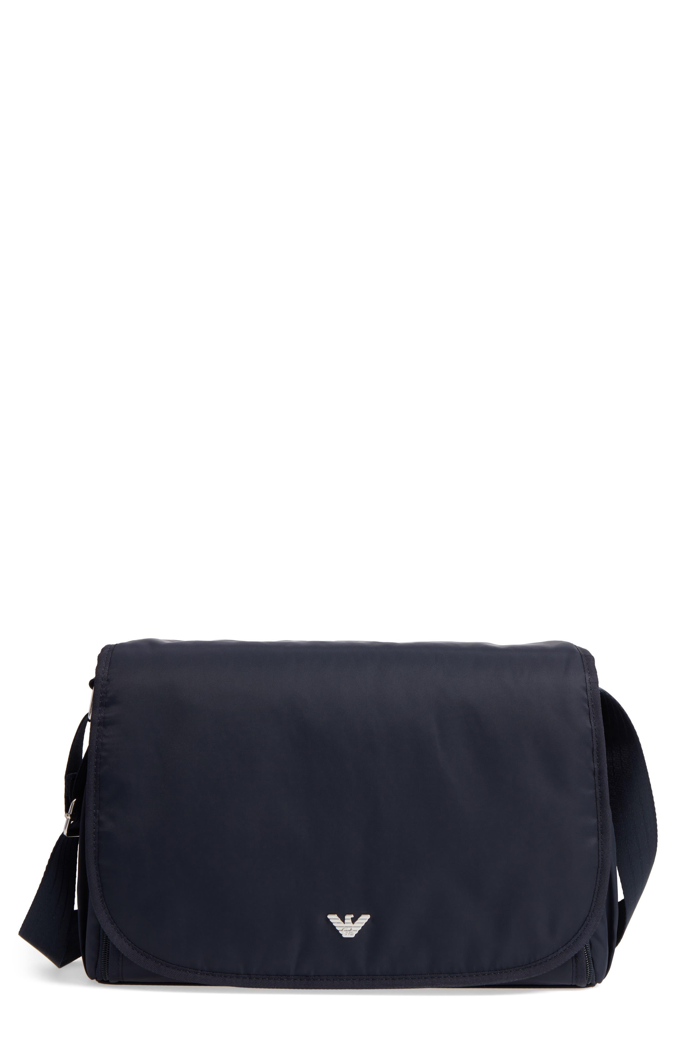 Main Image - Armani Junior Nylon Messenger Diaper Bag