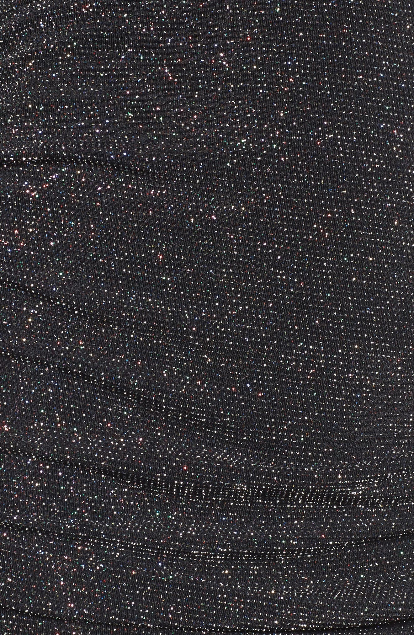 Shine Minidress,                             Alternate thumbnail 5, color,                             Black Multi Glitter