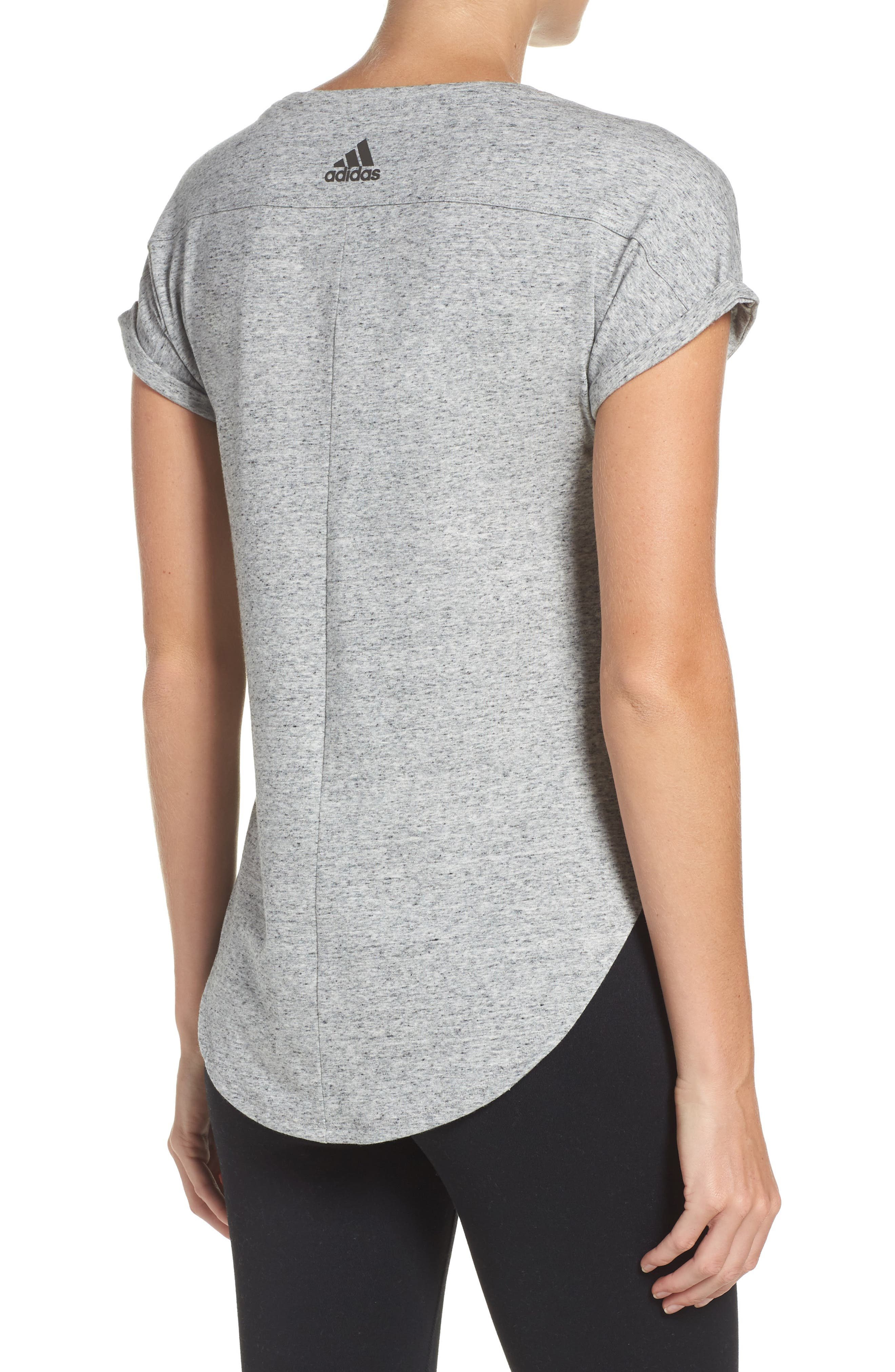 Performer High/Low Climalite<sup>®</sup> Tee,                             Alternate thumbnail 2, color,                             Grey