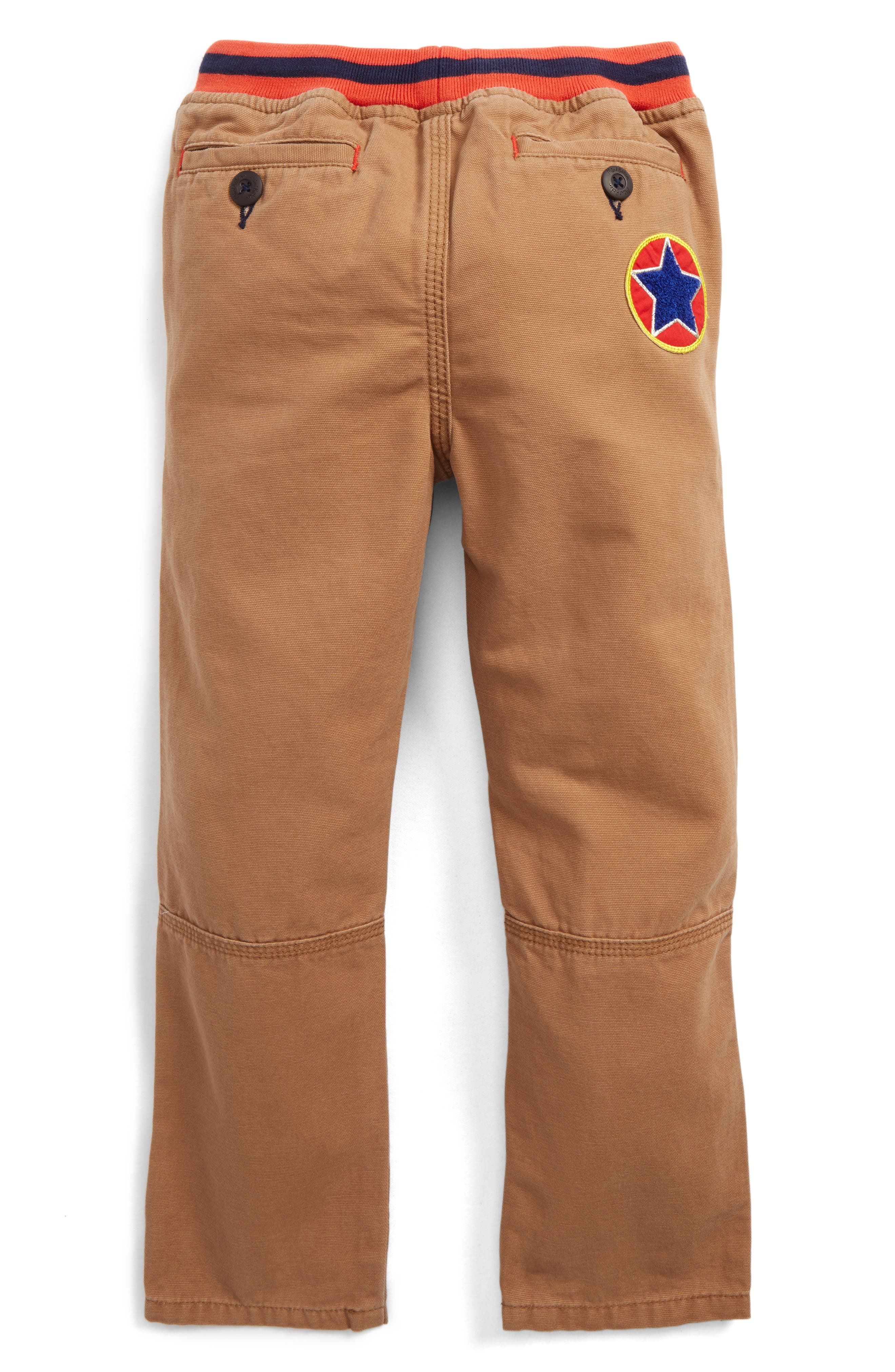 Pull-On Canvas Pants,                             Alternate thumbnail 2, color,                             Camel