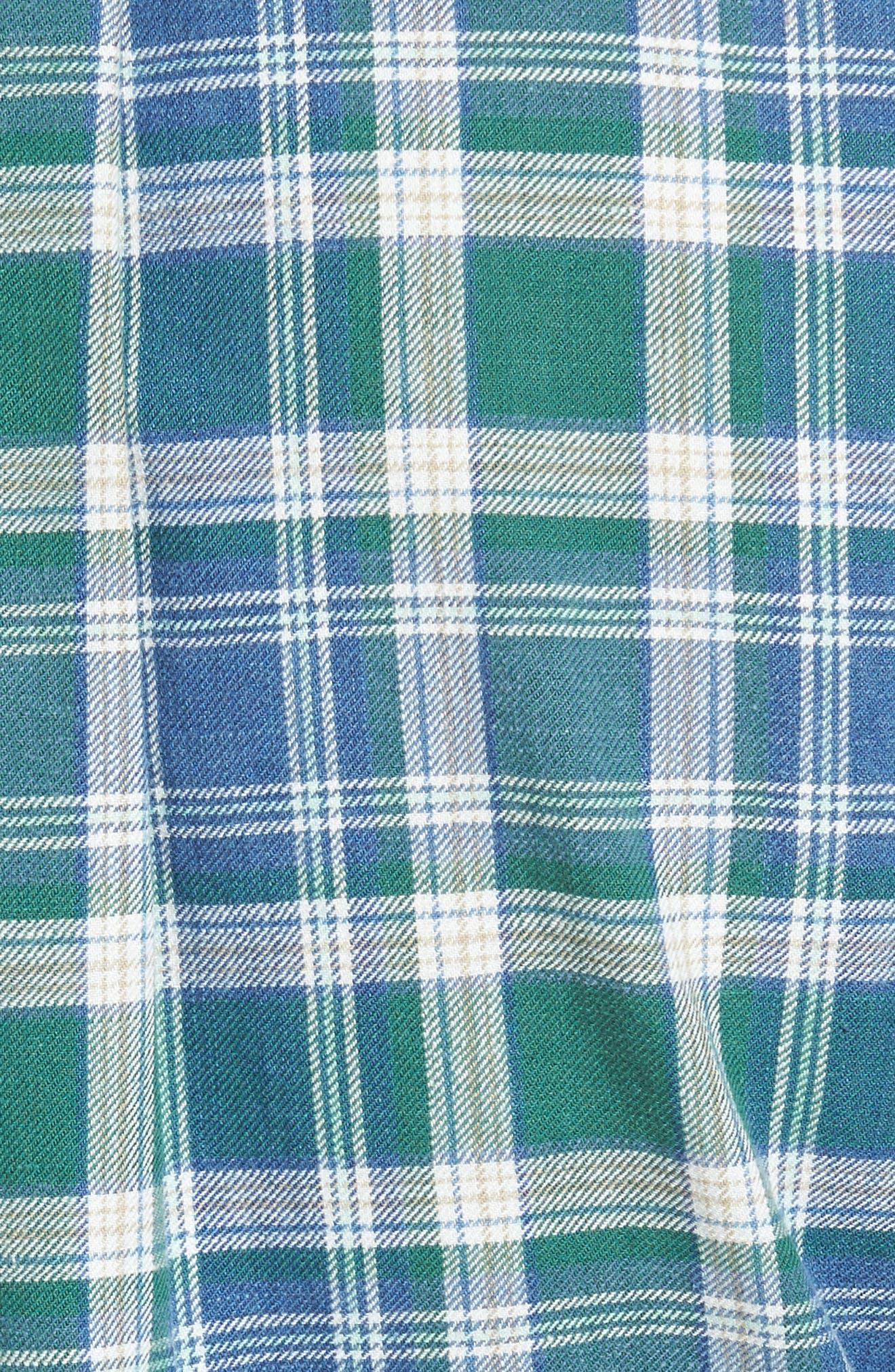 Alternate Image 5  - Peter Millar Rocky Regular Fit Plaid Sport Shirt
