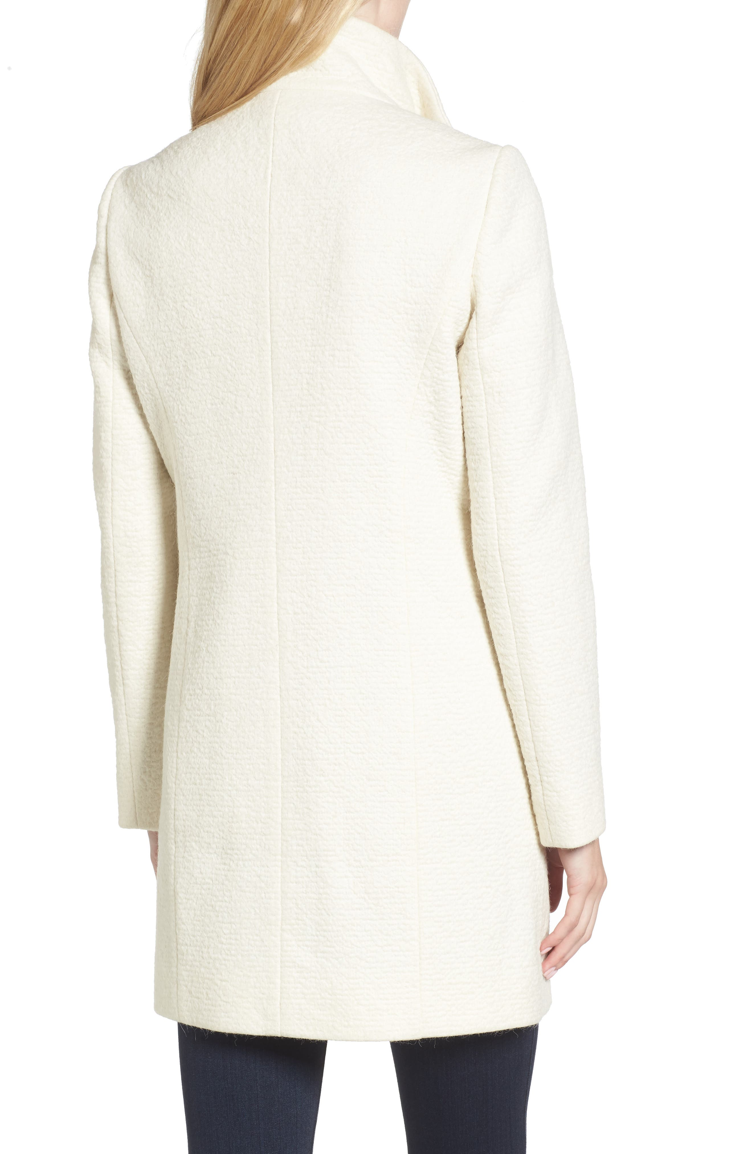 Alternate Image 2  - Cole Haan Double Breasted Funnel Neck Coat
