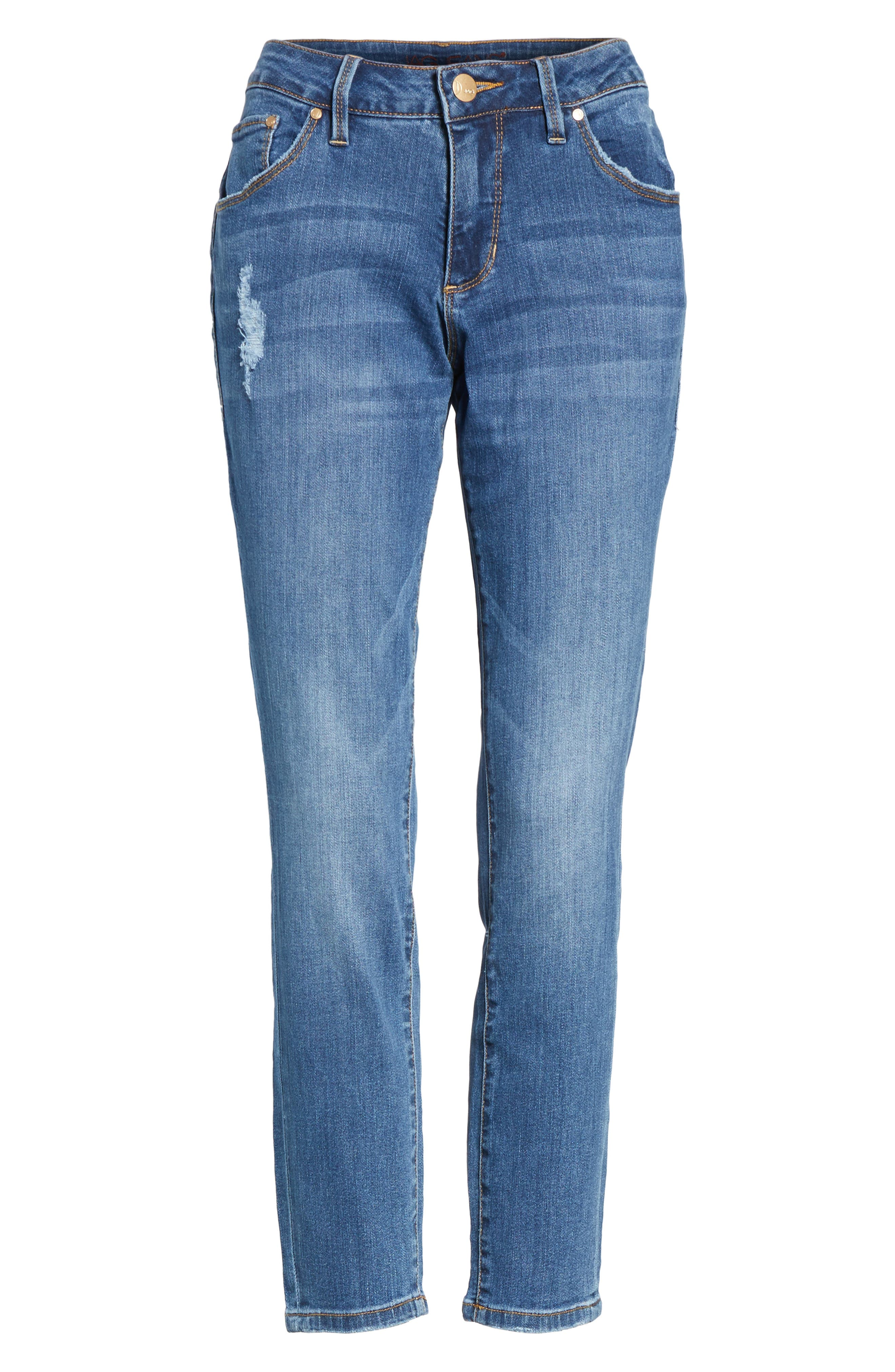 Mera Skinny Ankle Jeans,                             Alternate thumbnail 6, color,                             Mineral Wash