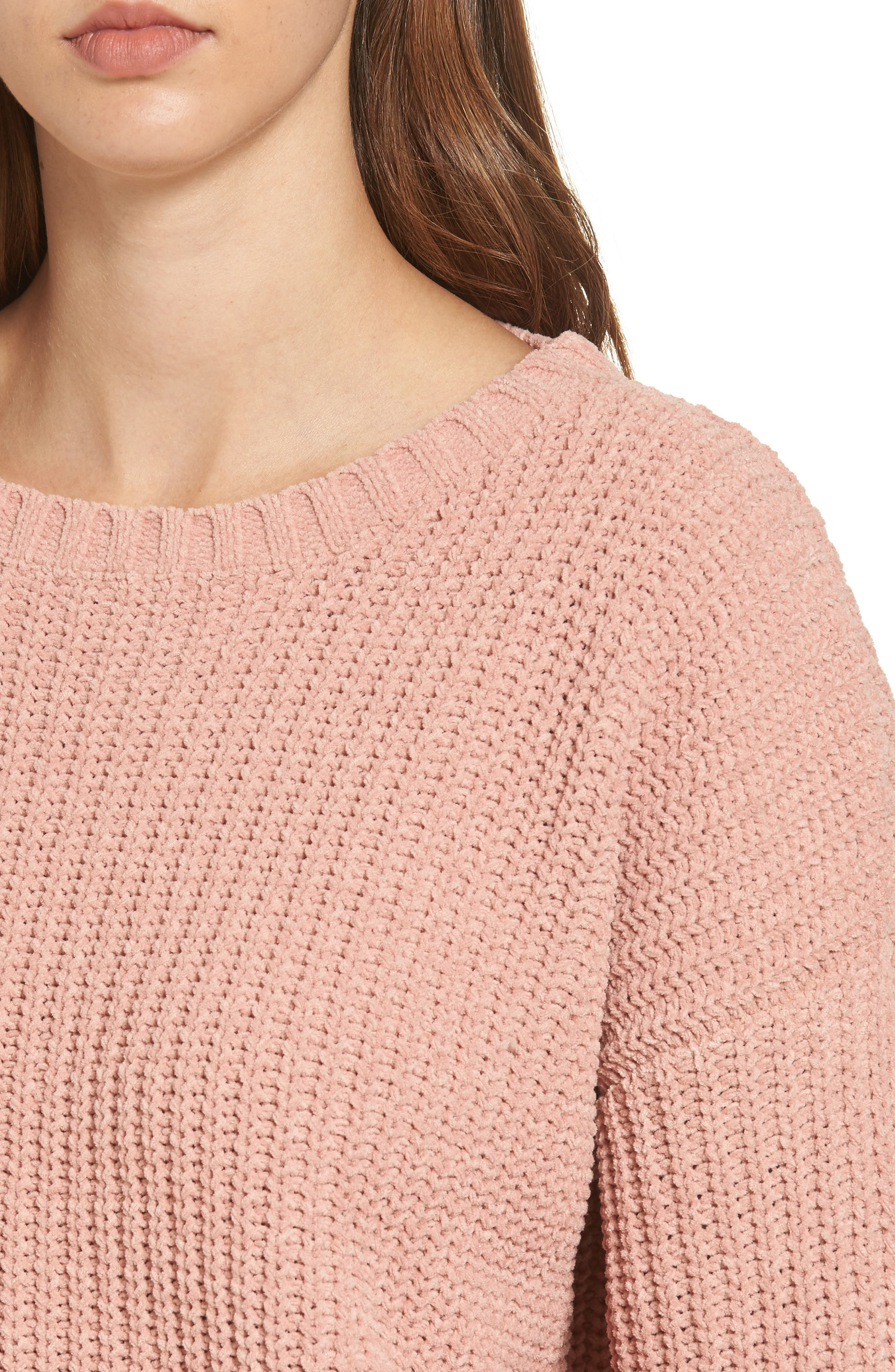 Alternate Image 4  - MOON RIVER Drop Shoulder Chunky Knit Sweater