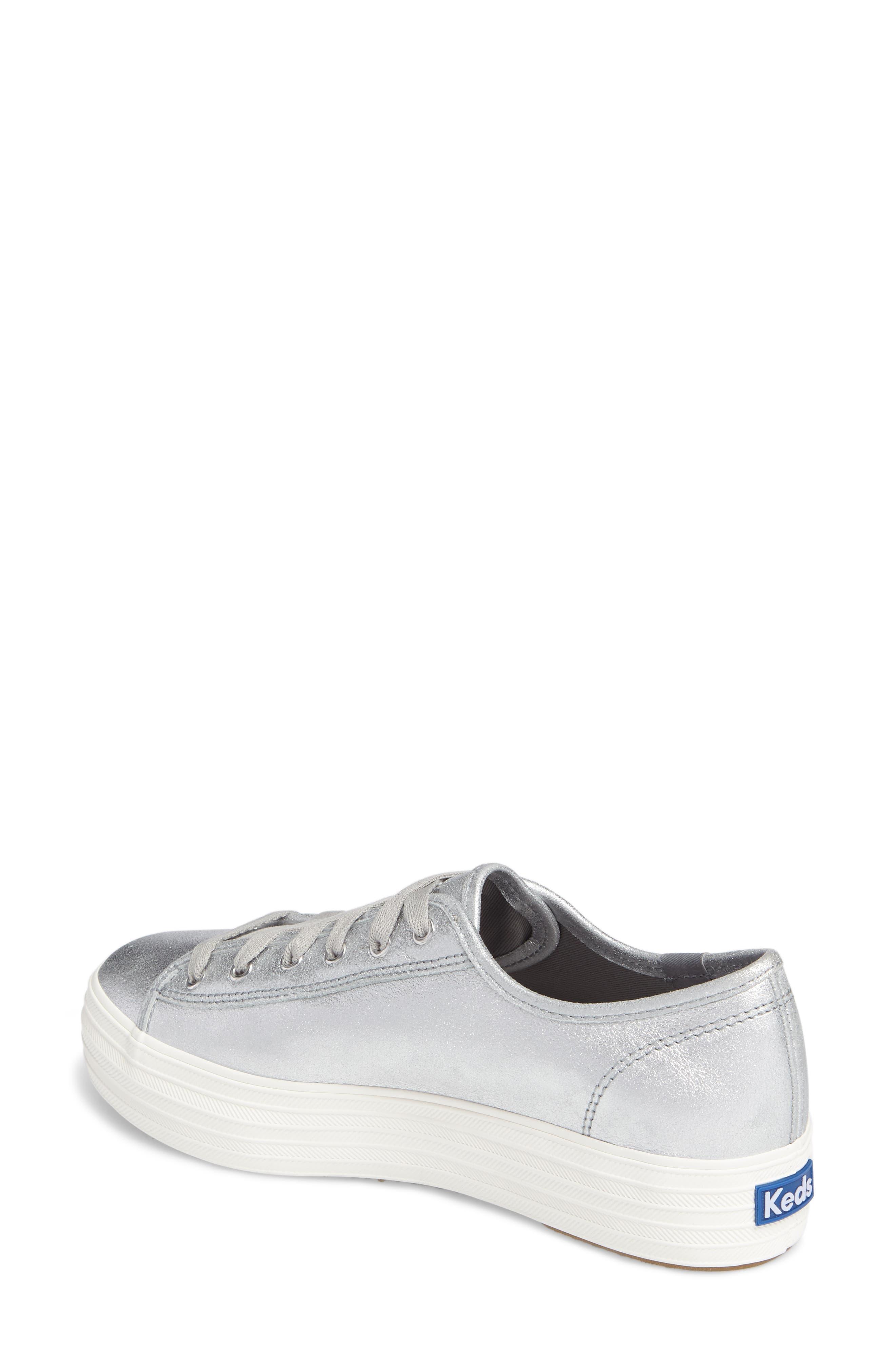 Triple Kick Platform Sneaker,                             Alternate thumbnail 2, color,                             Silver