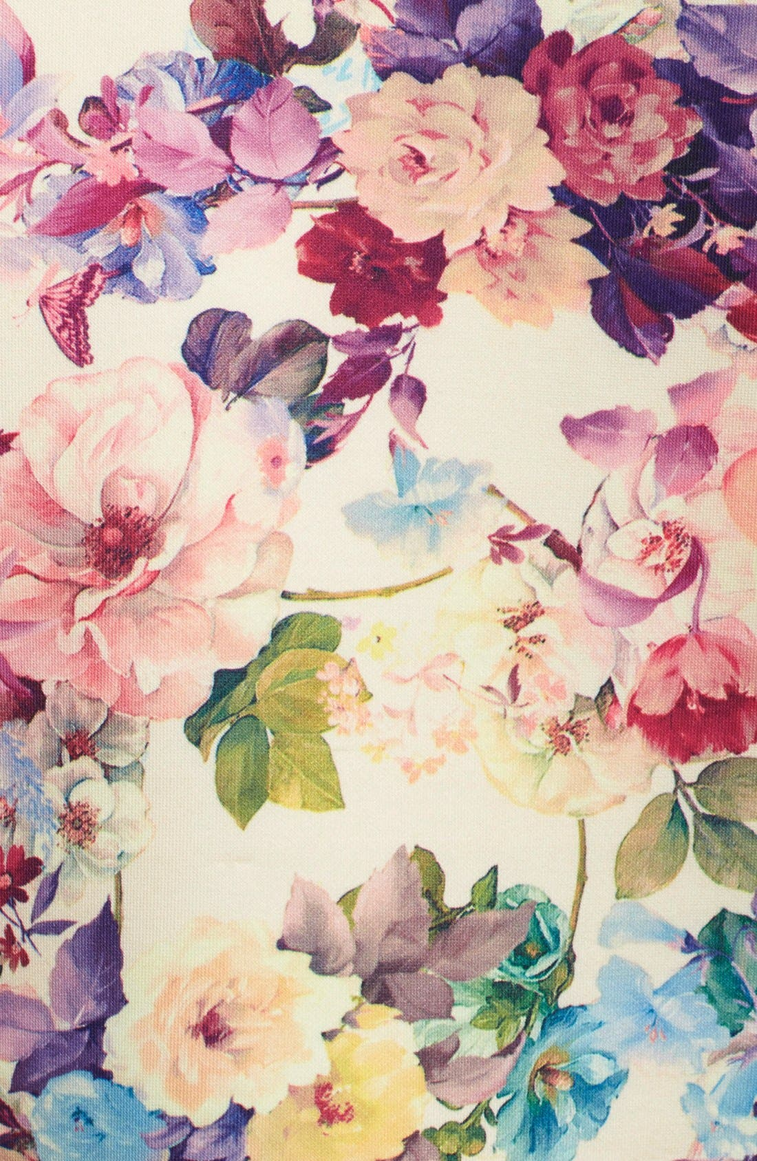 Alternate Image 4  - Gabby Skye Floral Print Scuba Fit & Flare Dress