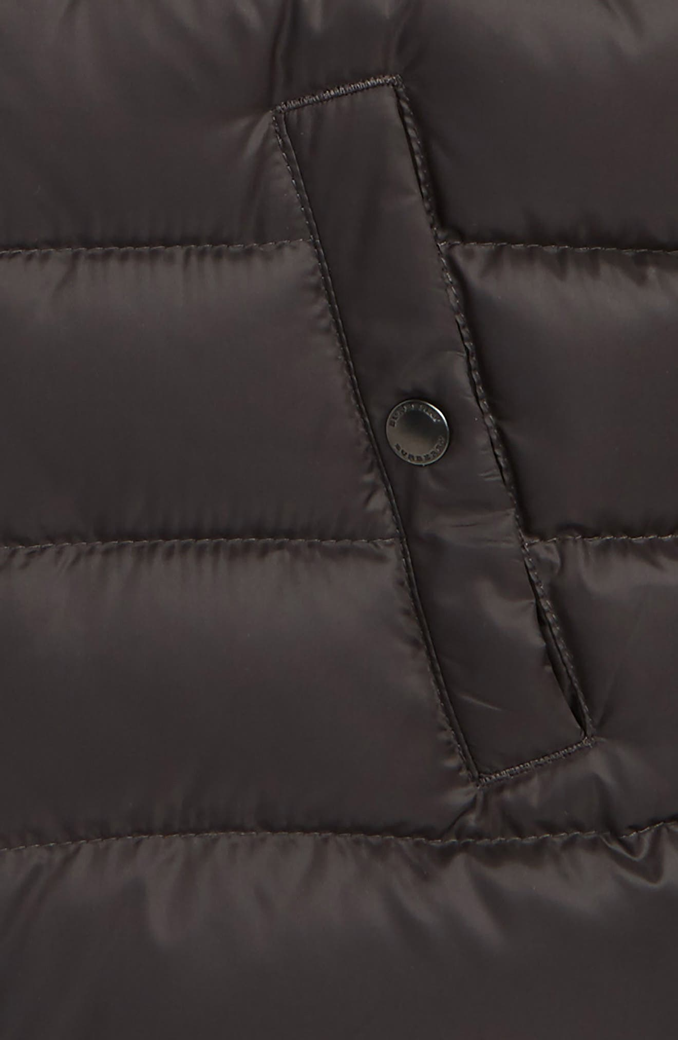 Mini Carlton Quilted Down Vest,                             Alternate thumbnail 2, color,                             Charcoal