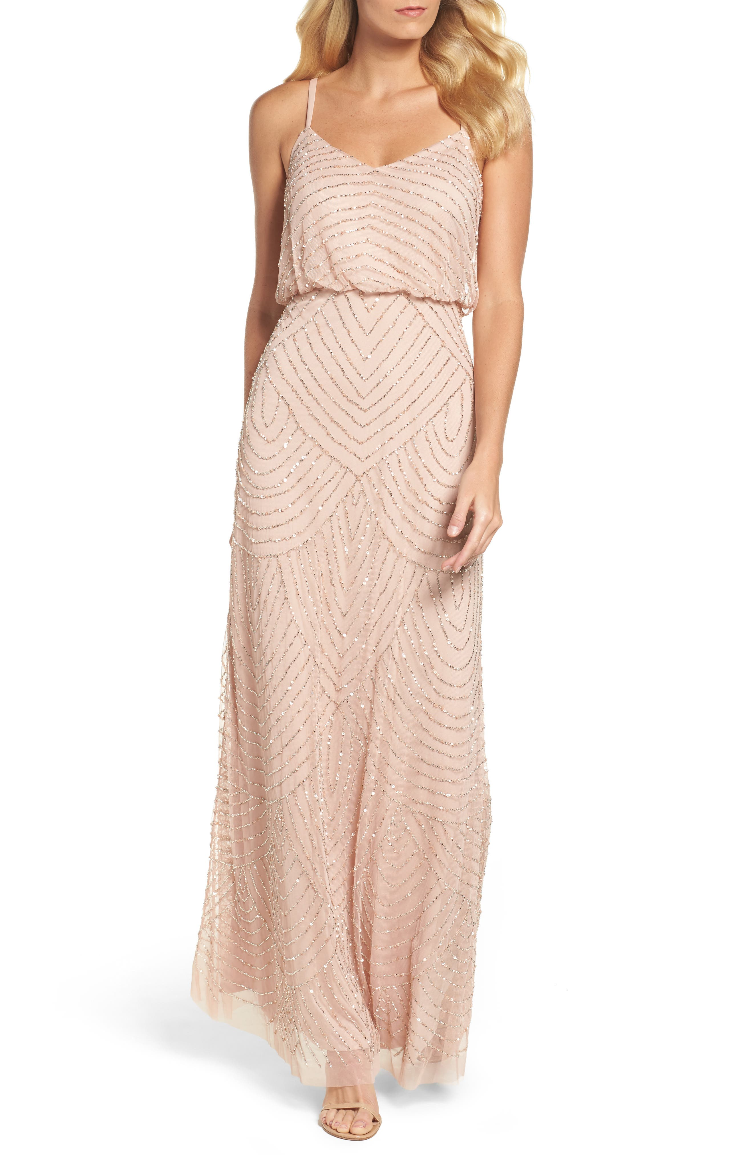 Alternate Image 1 Selected - Adrianna Papell Embellished Blouson Gown (Regular & Petite)