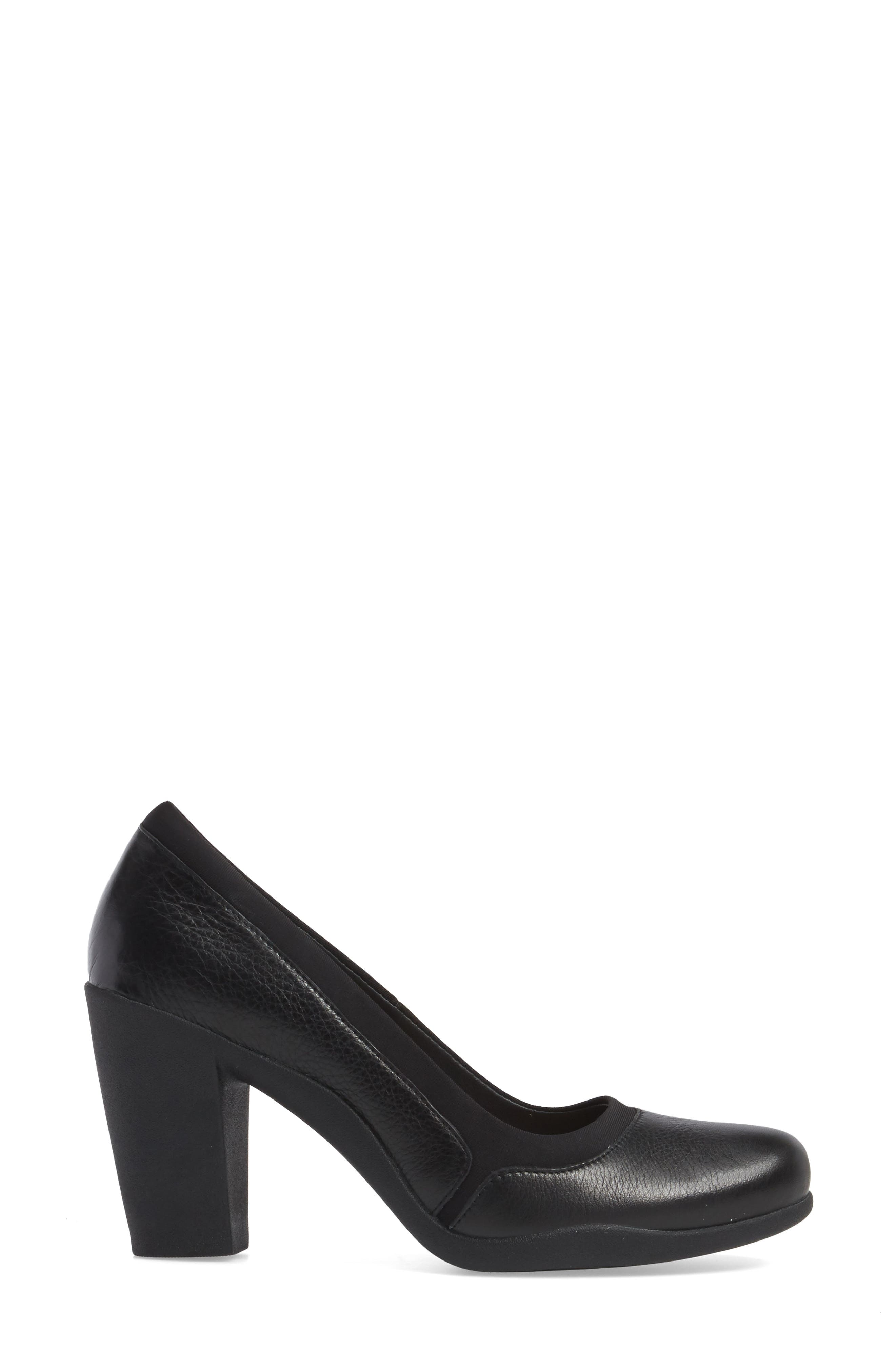 Ayda Maia Pump,                             Alternate thumbnail 3, color,                             Black Leather