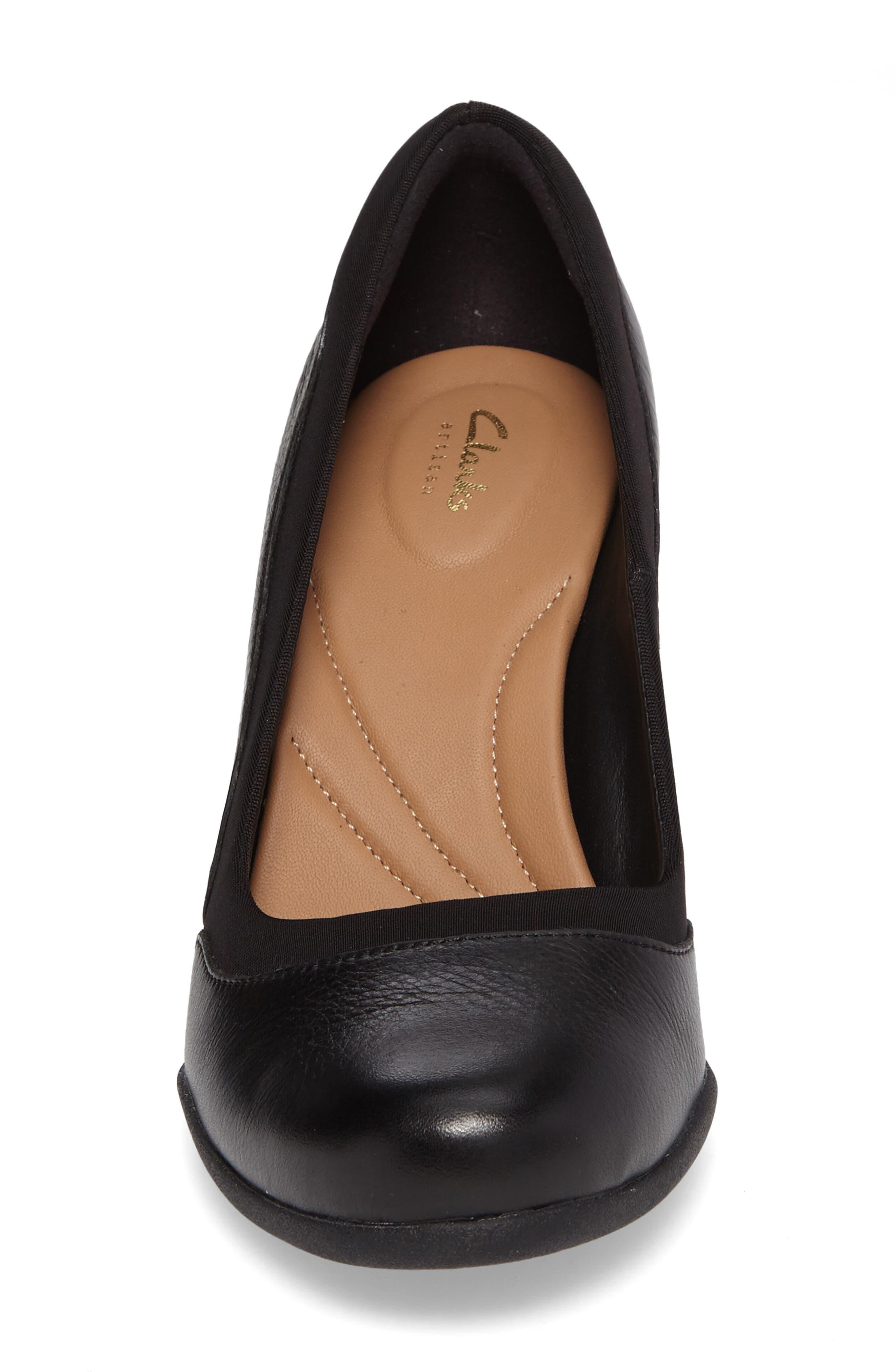 Ayda Maia Pump,                             Alternate thumbnail 4, color,                             Black Leather