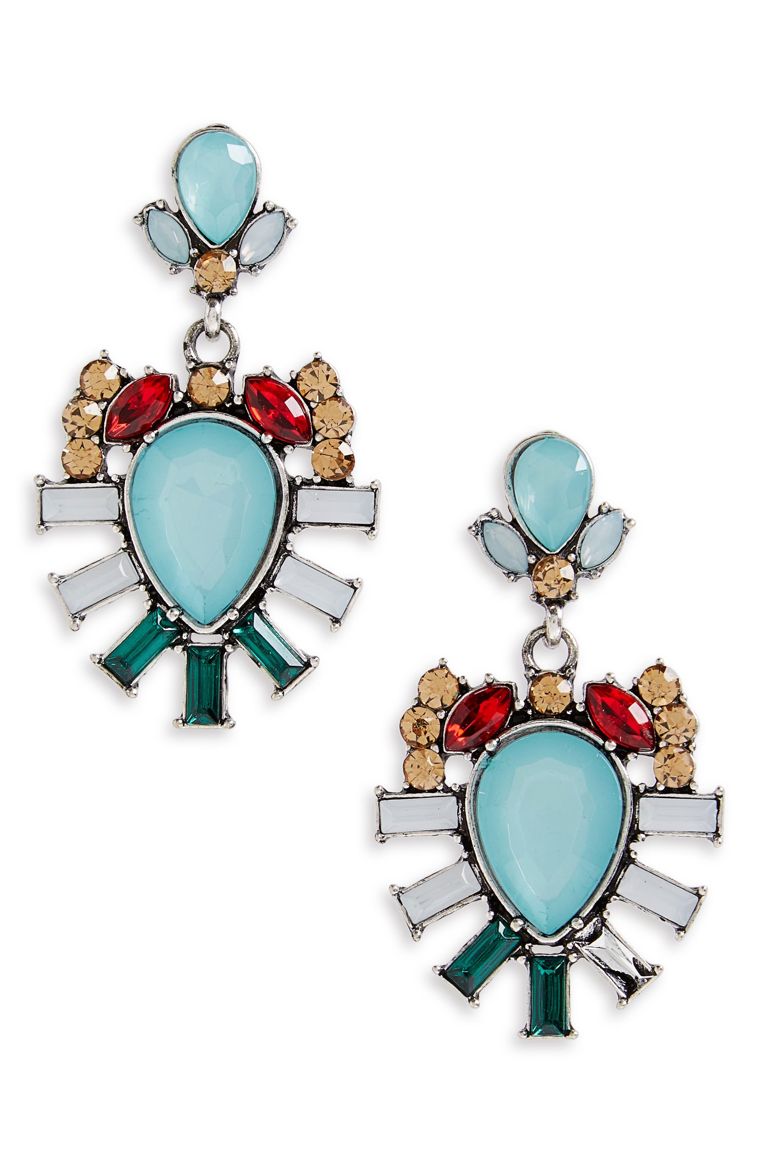 Drop Earrings,                         Main,                         color, Blue Multi