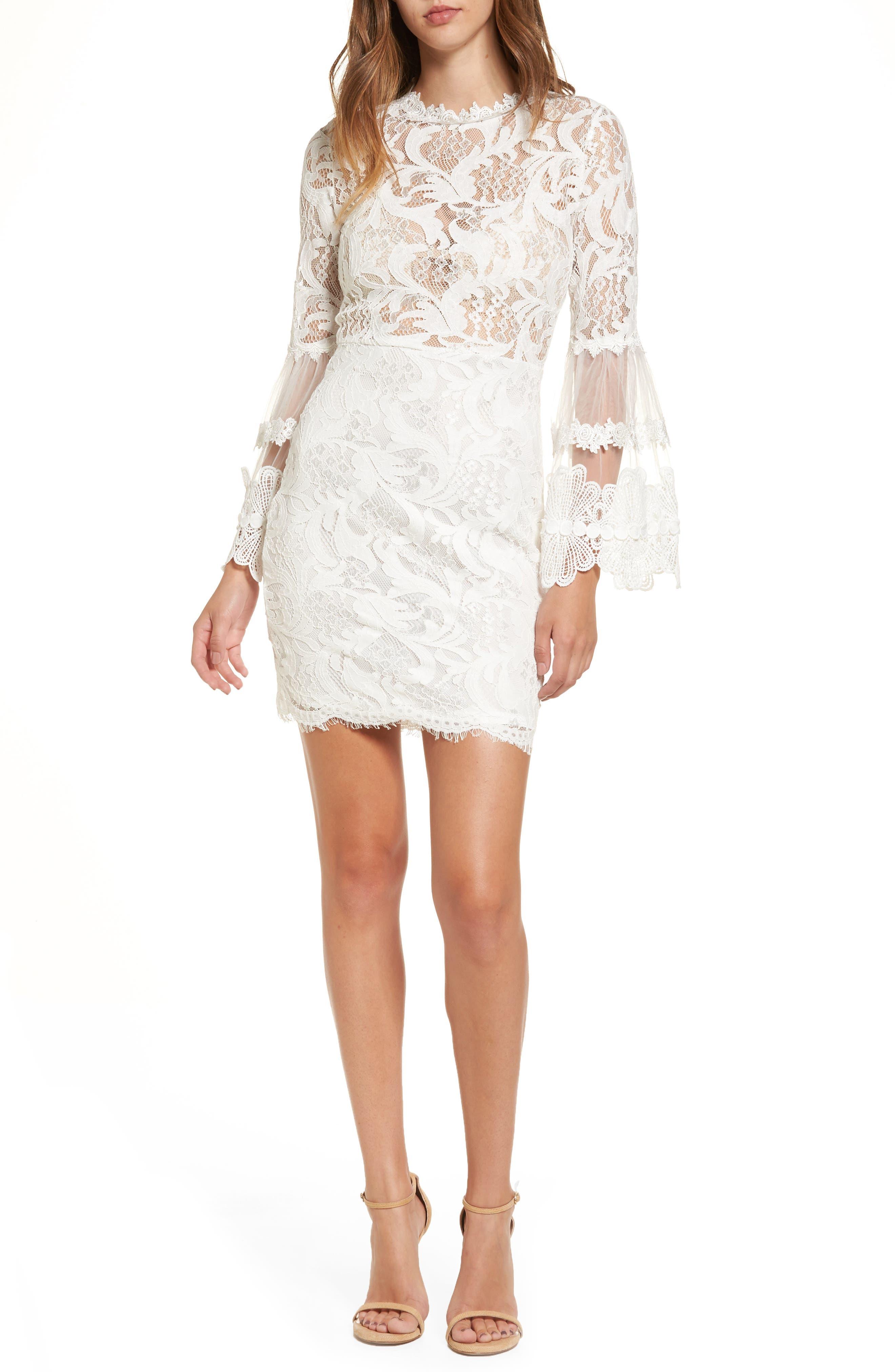 Chancellor Lace Minidress,                         Main,                         color, White