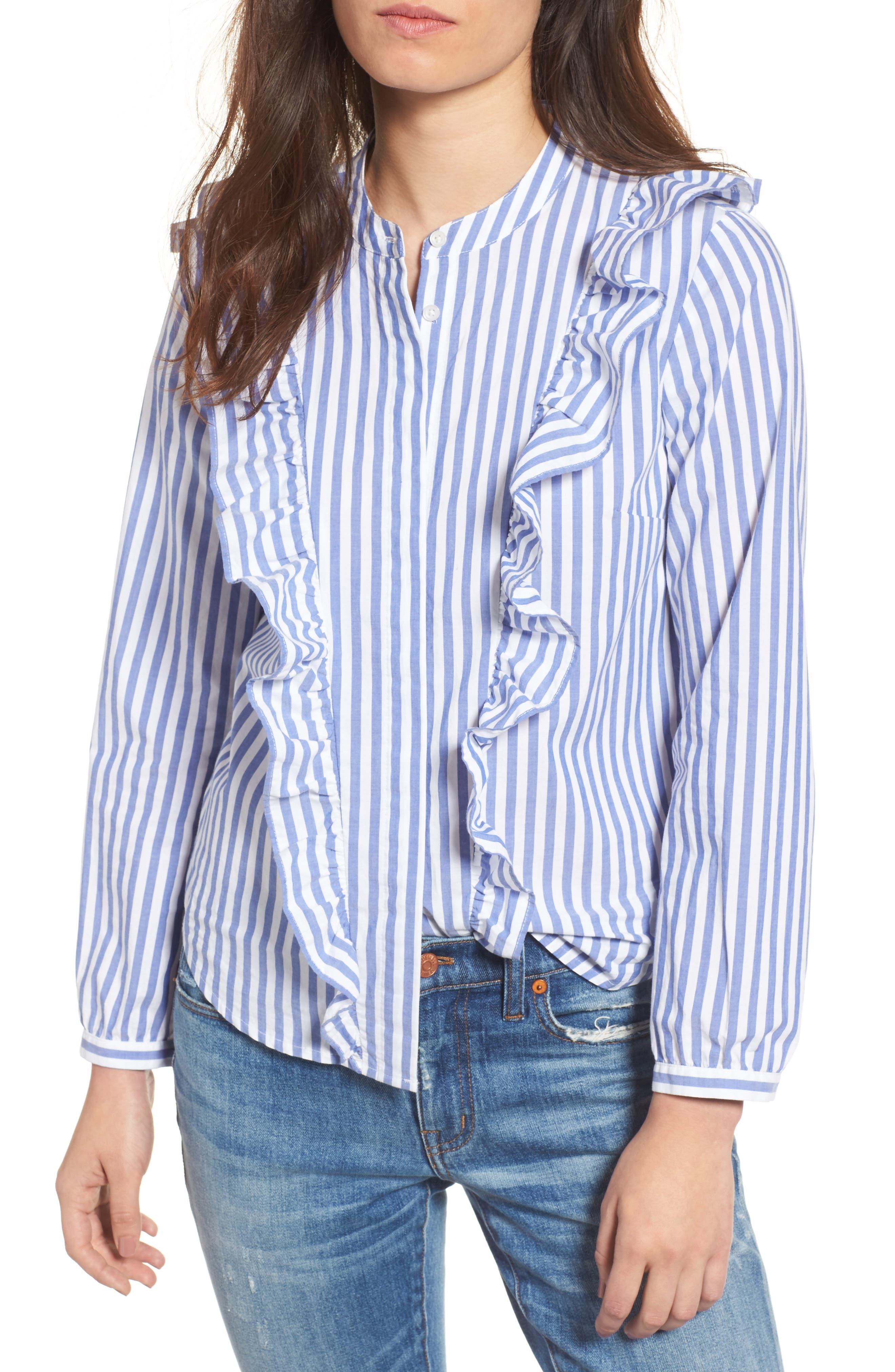 Madewell Whitney Stripe Ruffle Blouse