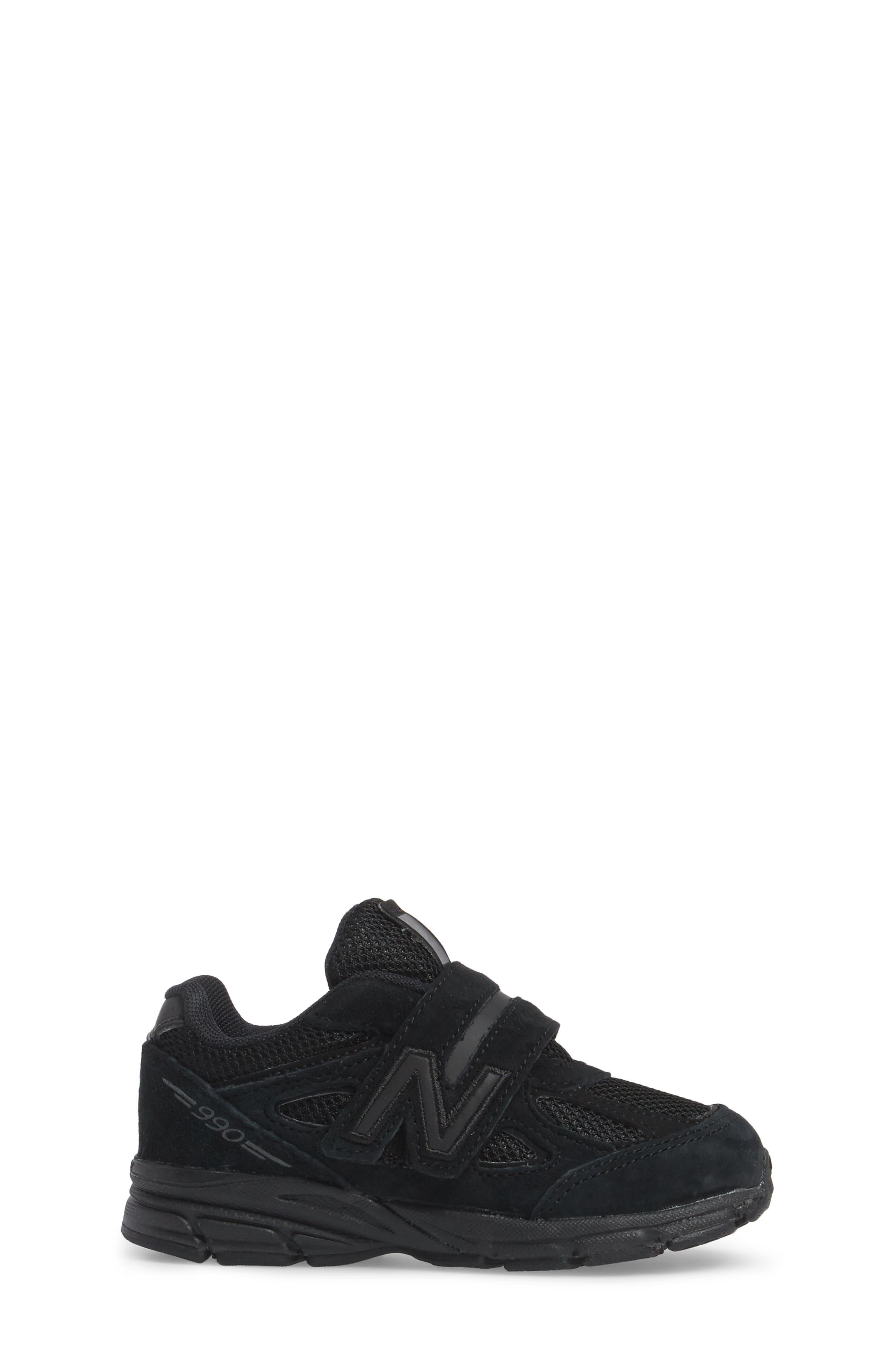 '990v4' Sneaker,                             Alternate thumbnail 3, color,                             Black/ Black