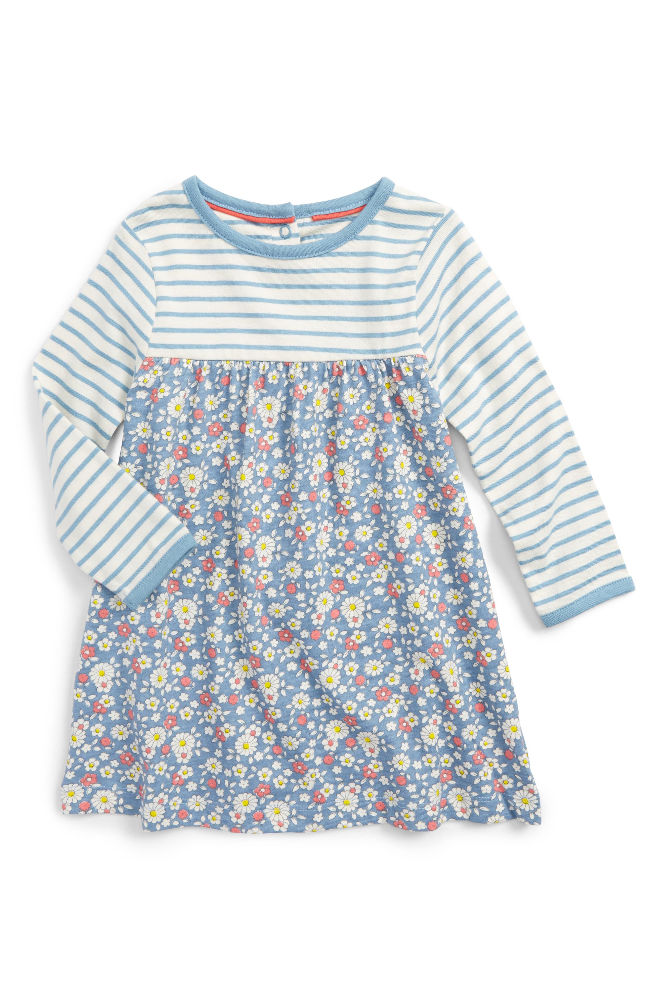 Hotchpotch Dress,                             Main thumbnail 1, color,                             Blue Wren Vintage Daisy