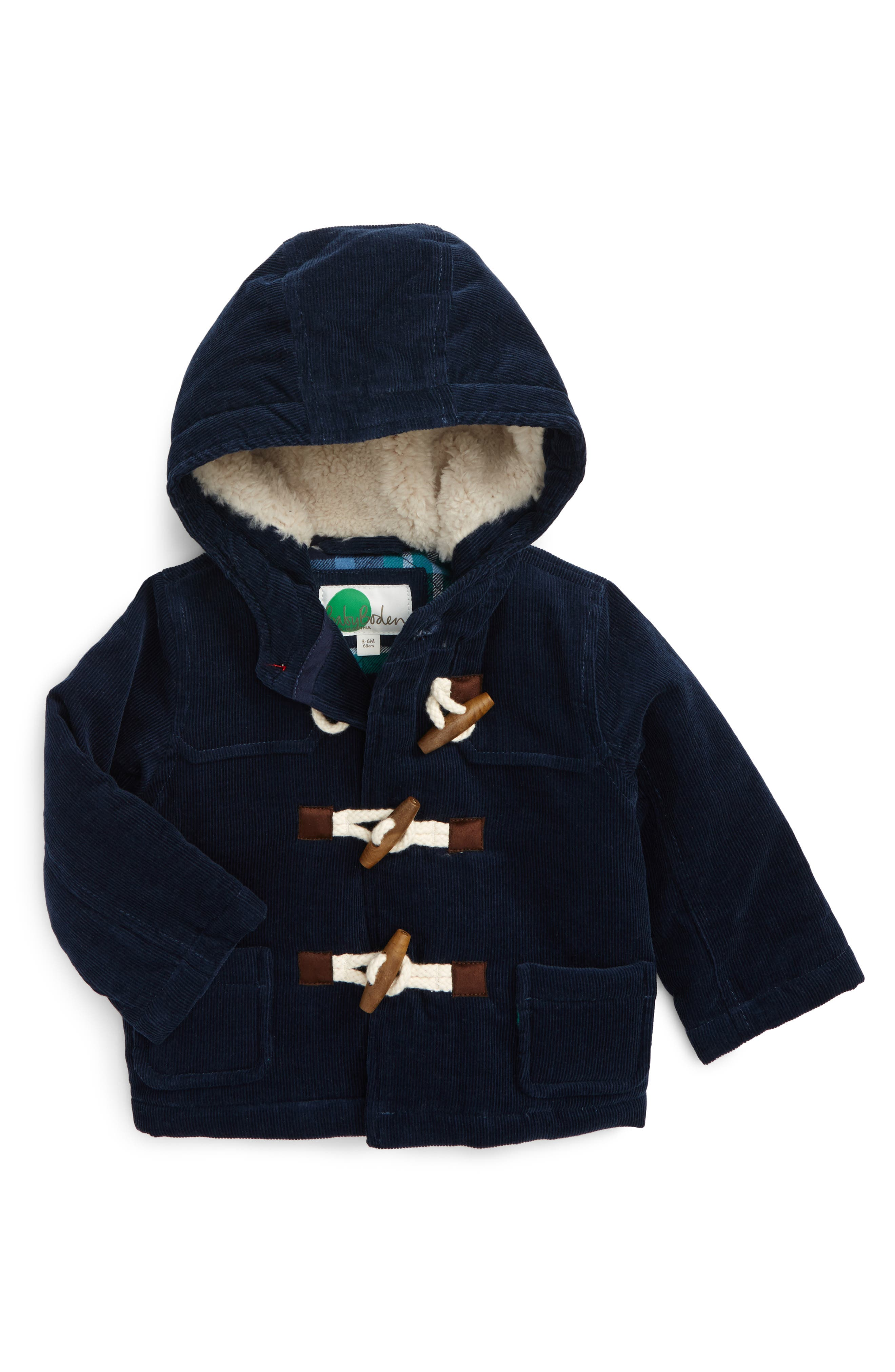 Corduroy Duffle Jacket,                         Main,                         color, Navy