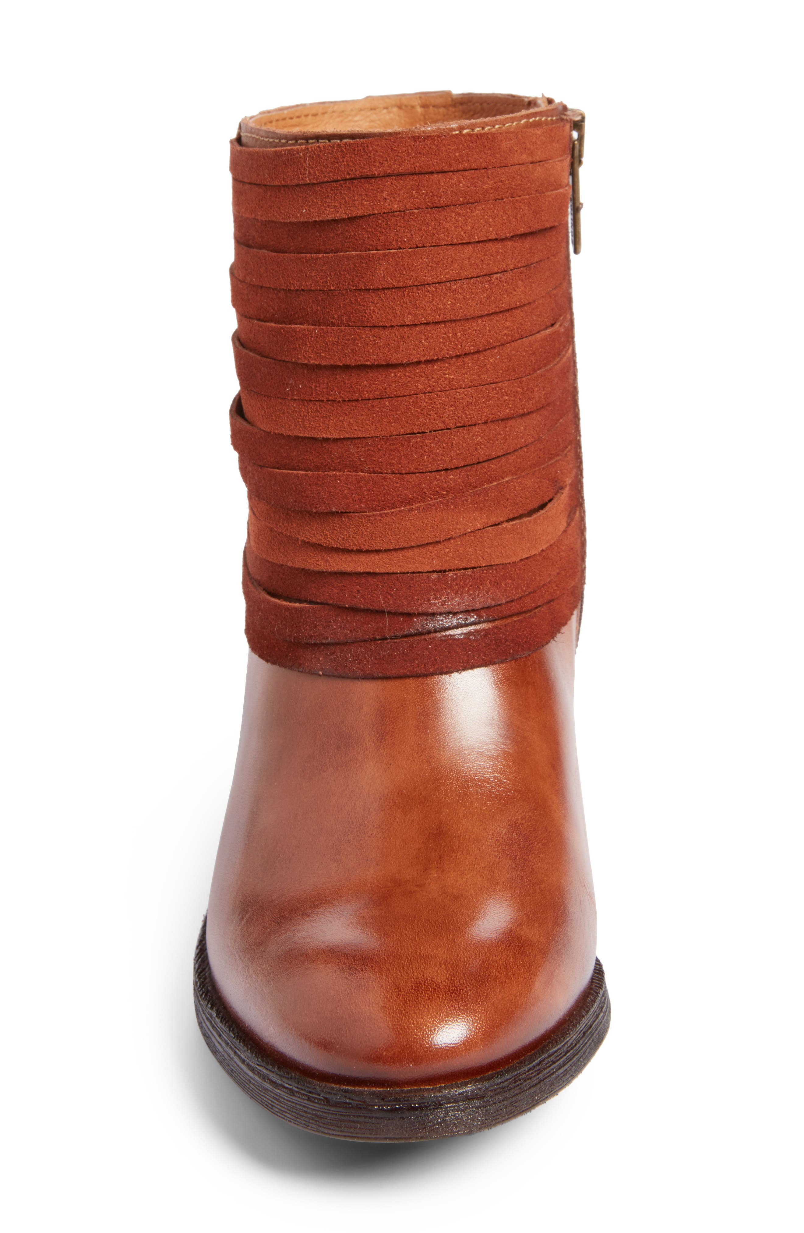 Alicante Bootie,                             Alternate thumbnail 4, color,                             Cuero Leather