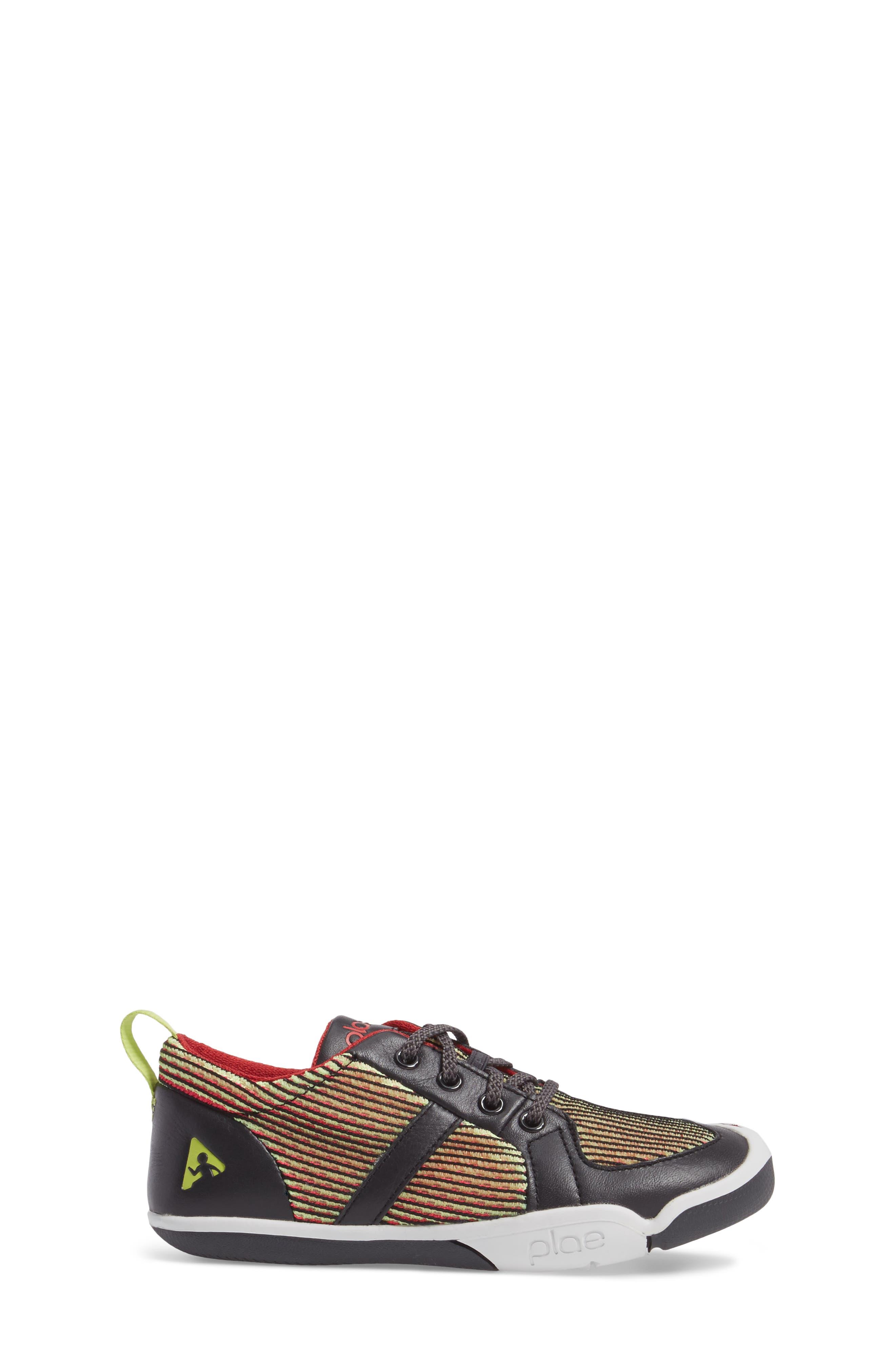 Miles Performance Mesh Sneaker,                             Alternate thumbnail 3, color,                             Electric Lime