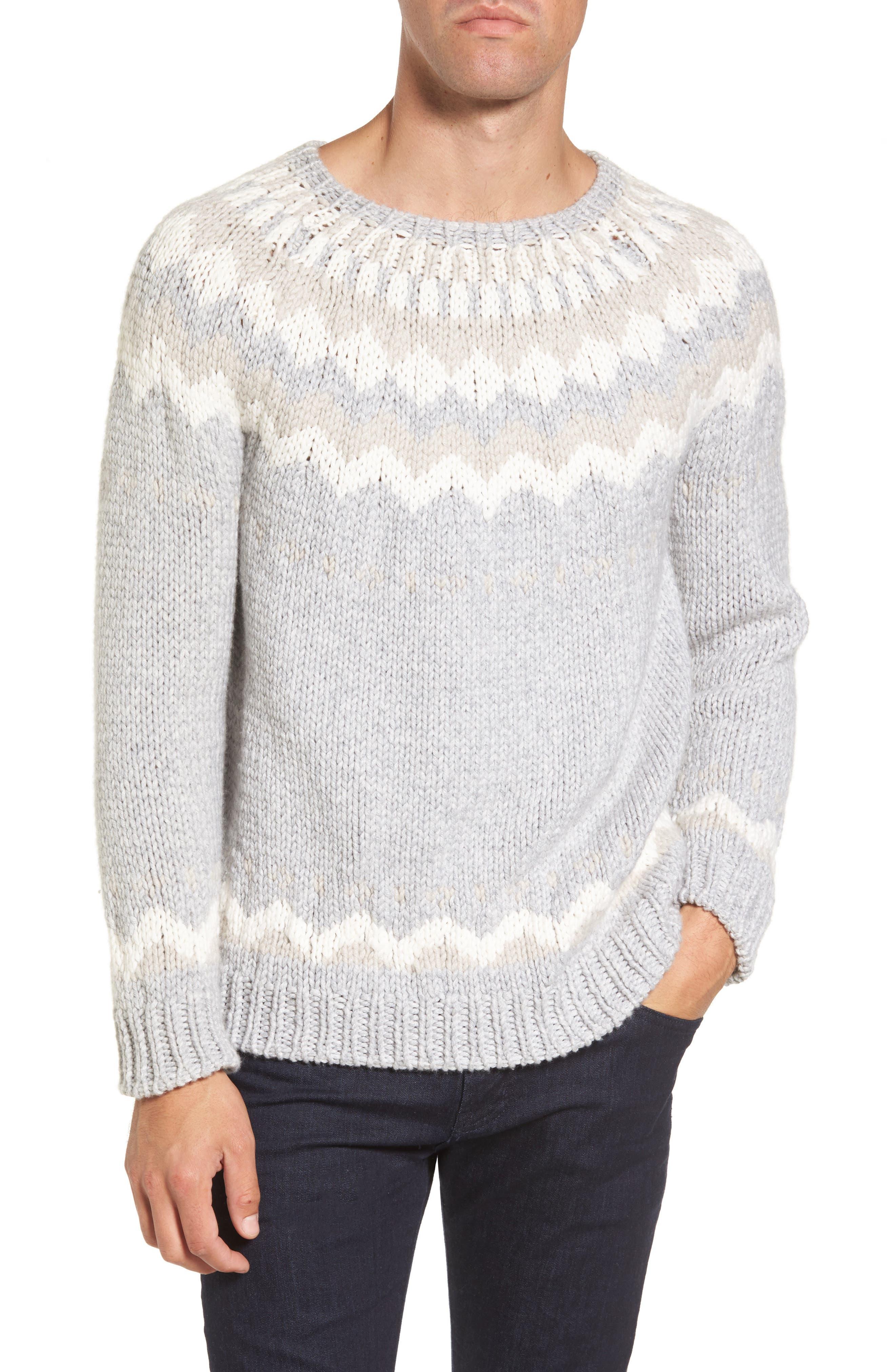 Eleventy Intarsia Cashmere Sweater