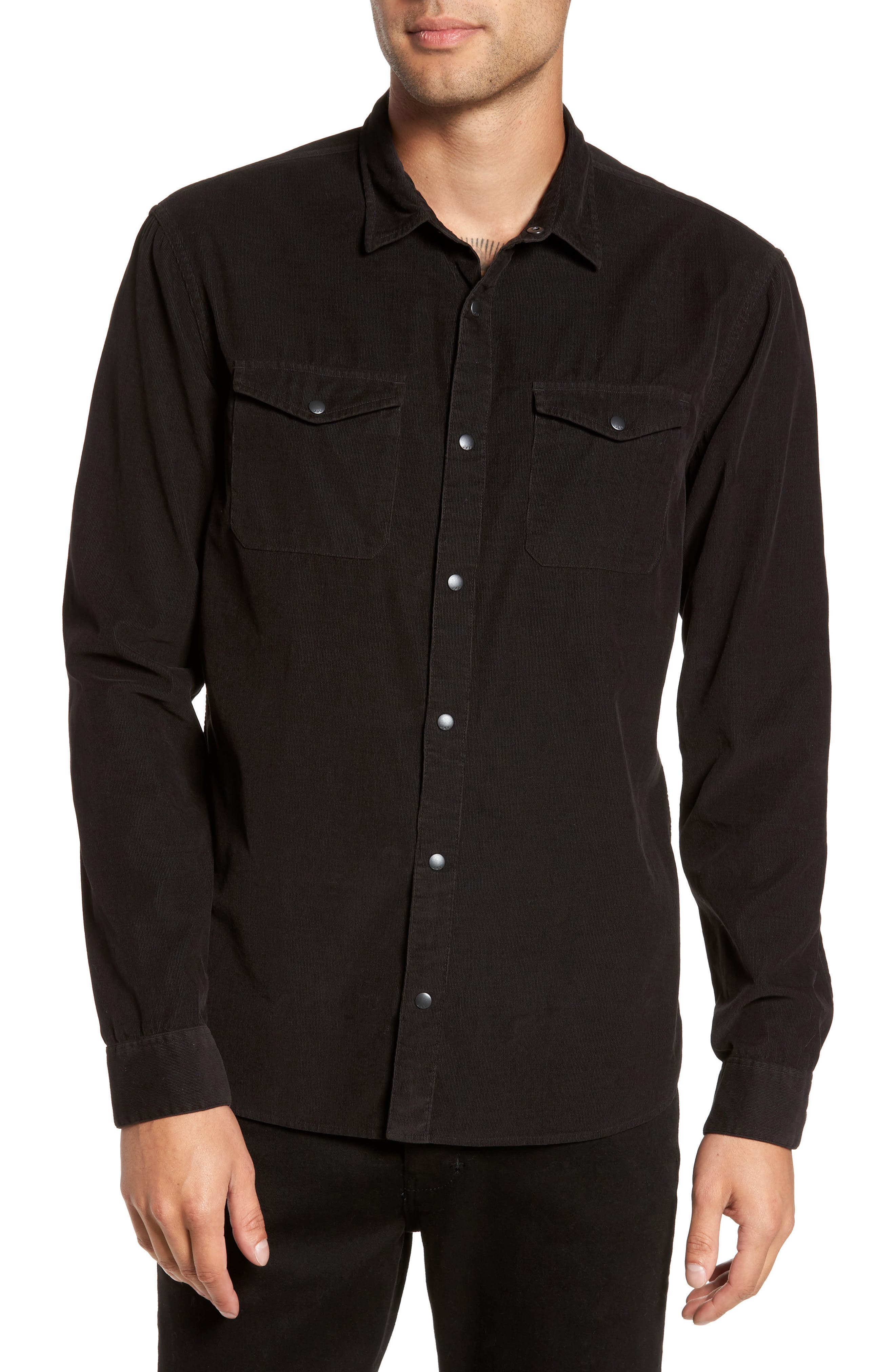 Alternate Image 1 Selected - John Varvatos Star USA Snap Front Corduroy Sport Shirt