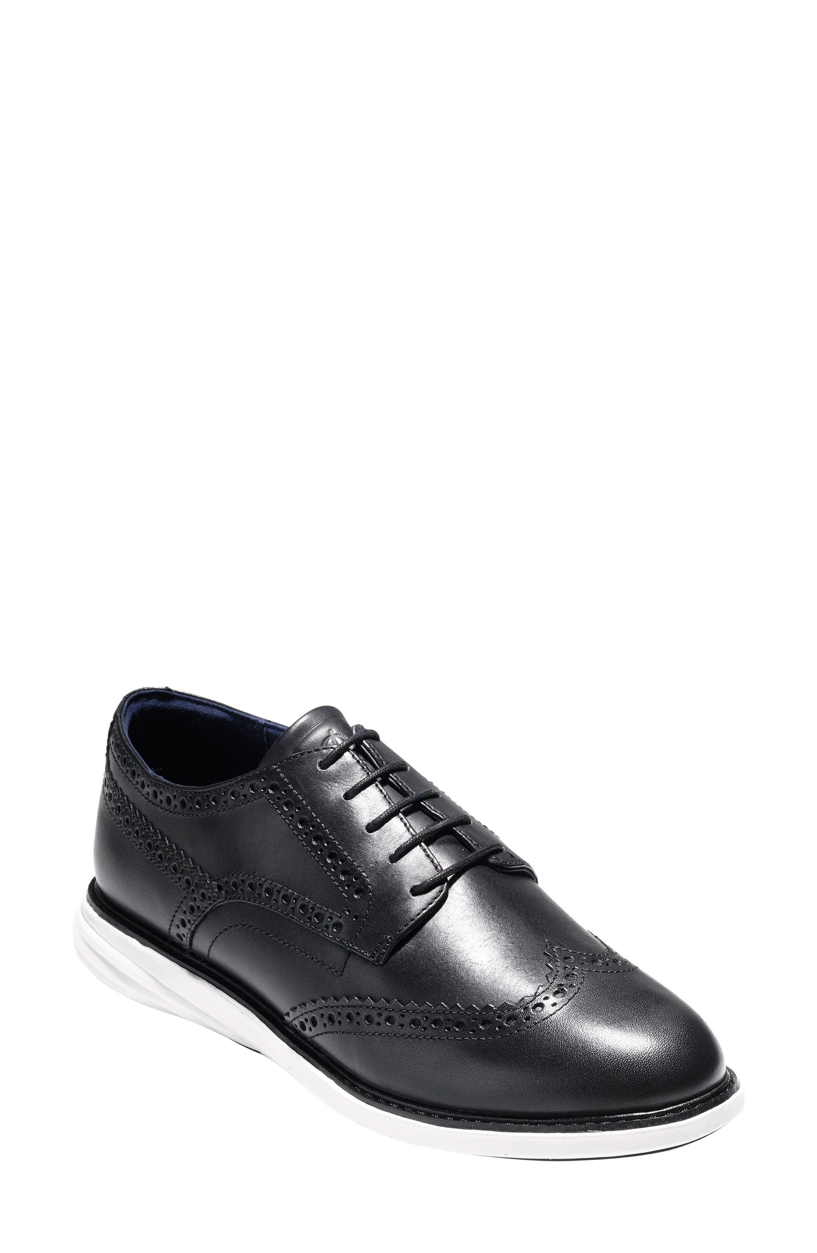 Gradevolution Oxford Sneaker,                         Main,                         color, Black/ Optic White Leather