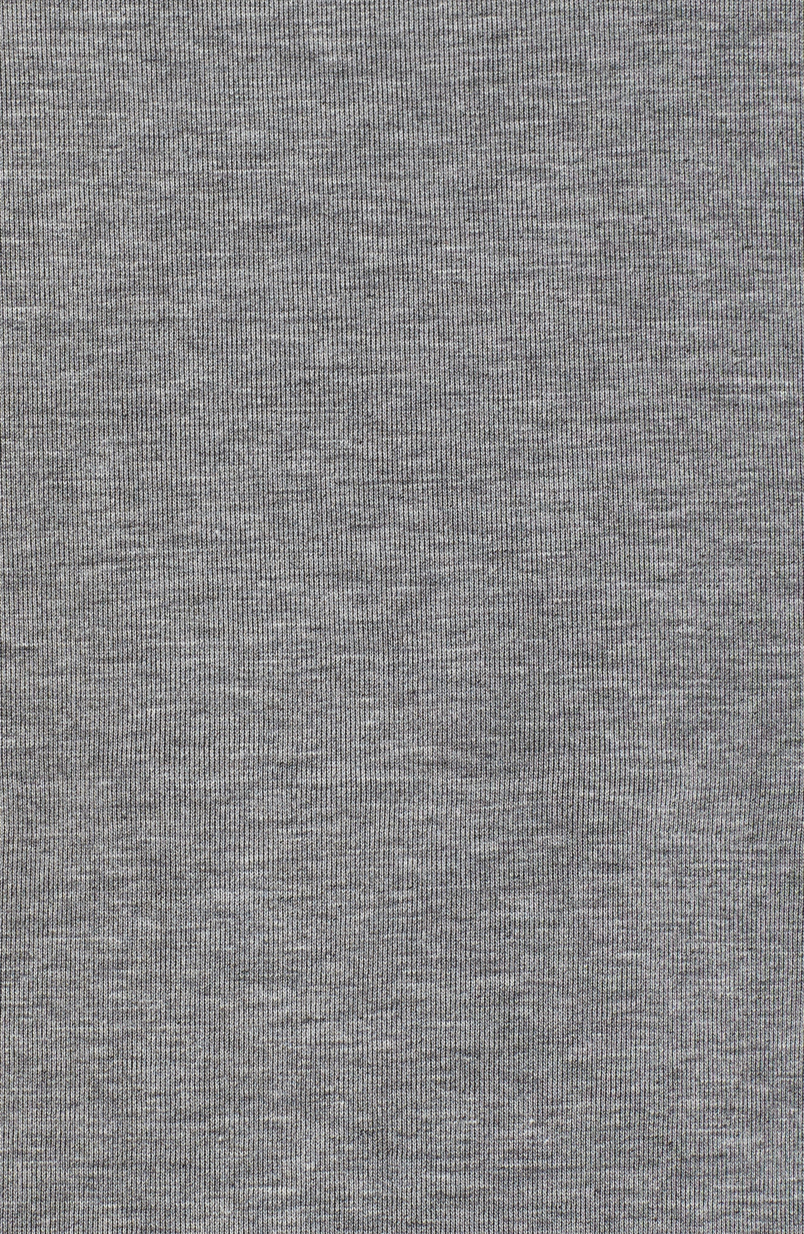 Colorblock Fleece Top,                             Alternate thumbnail 6, color,                             Carbon Heather/ Bone/ Black