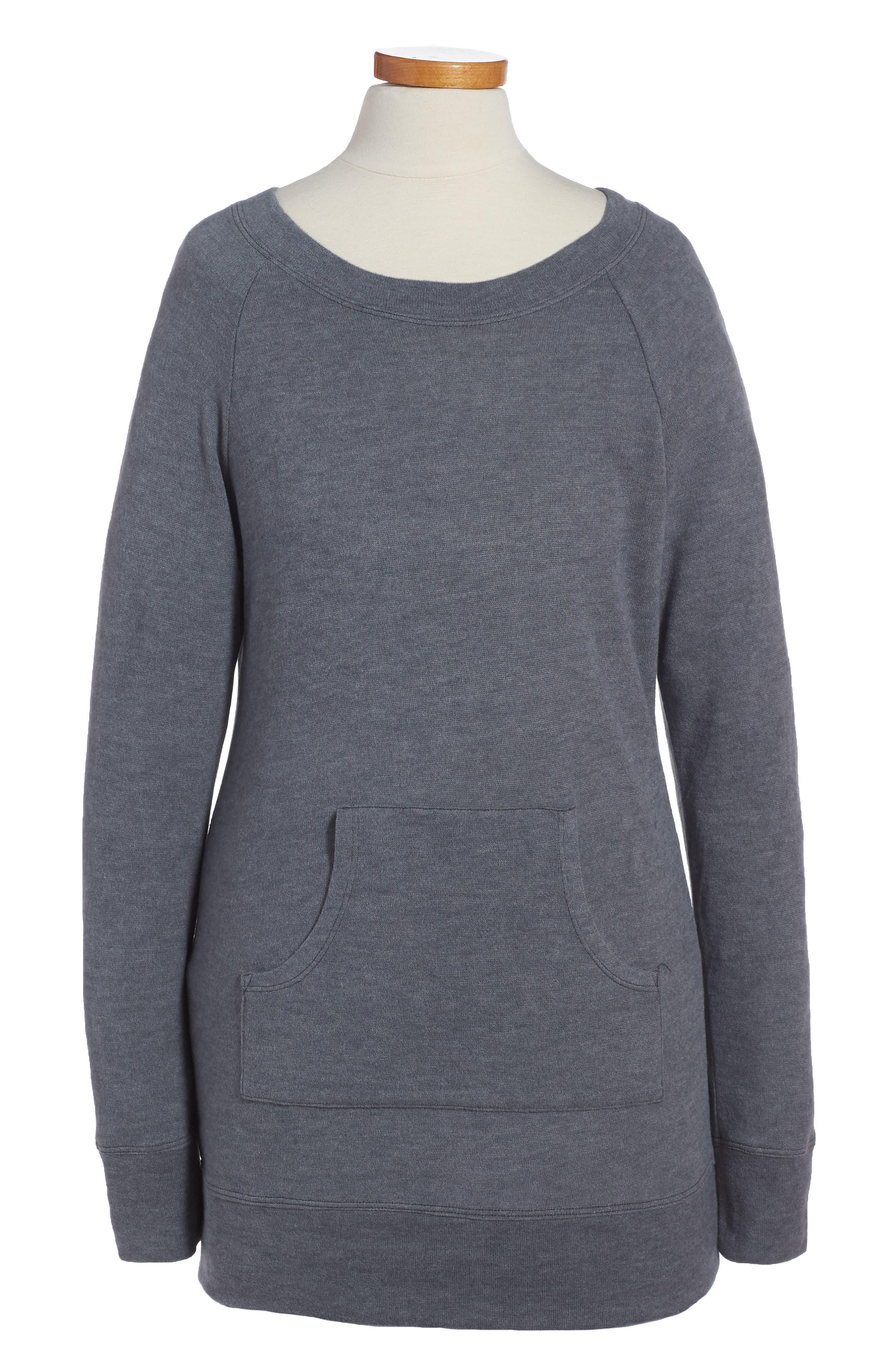 Sweatshirt Dress,                             Main thumbnail 1, color,                             Grey