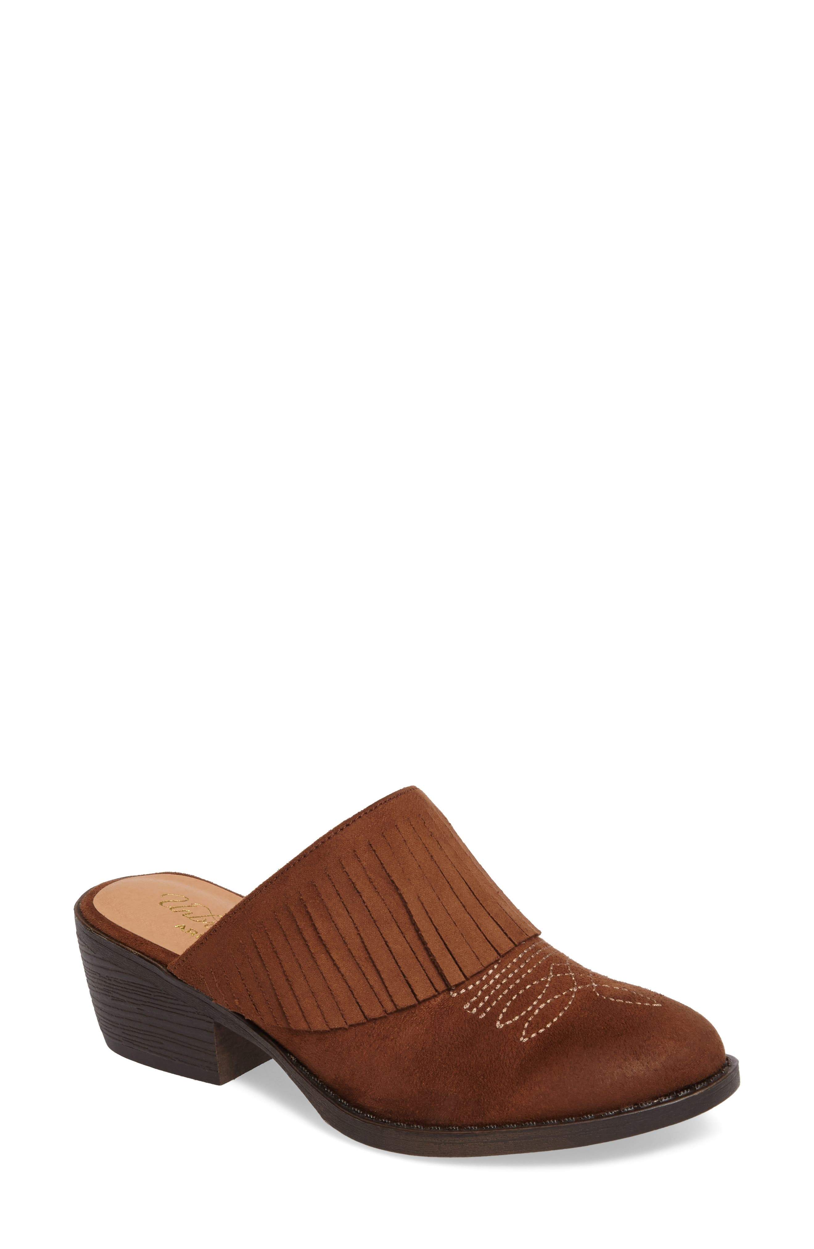 Unbridled Shirley Mule,                             Main thumbnail 1, color,                             Whiskey Suede