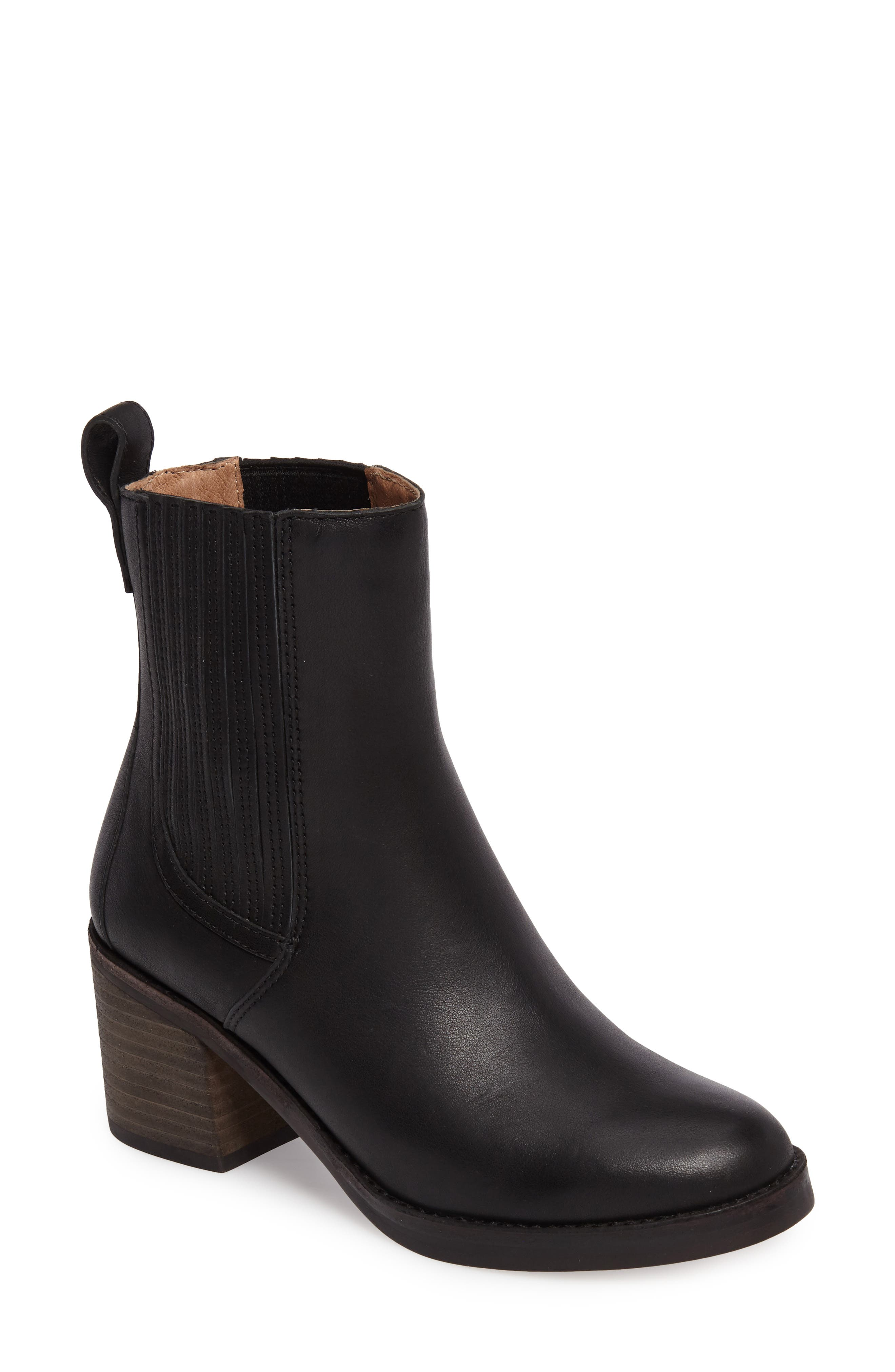Camden Chelsea Boot,                             Main thumbnail 1, color,                             Black Leather