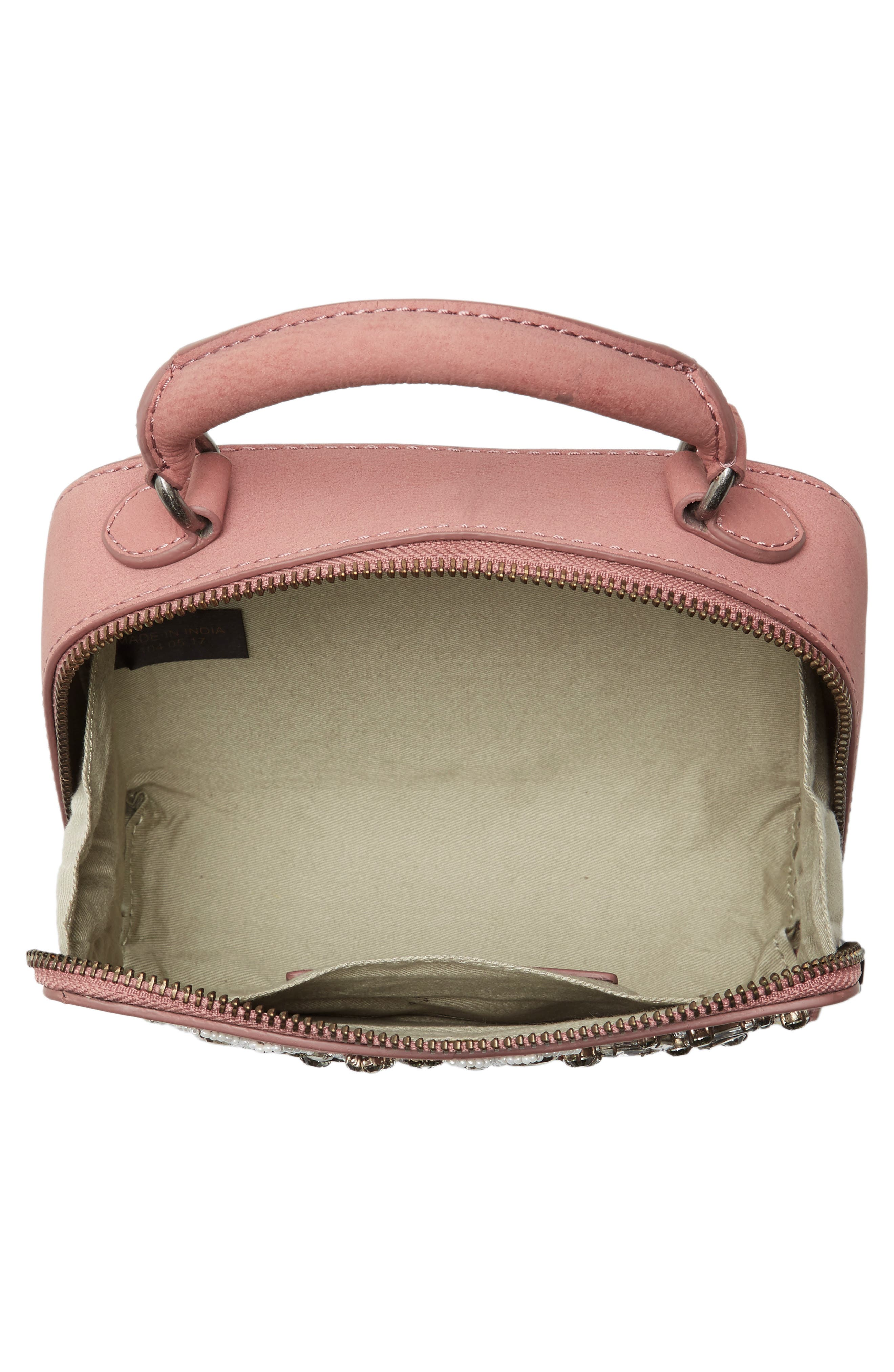 Alternate Image 4  - Rebecca Minkoff Embellished Box Leather Crossbody Bag