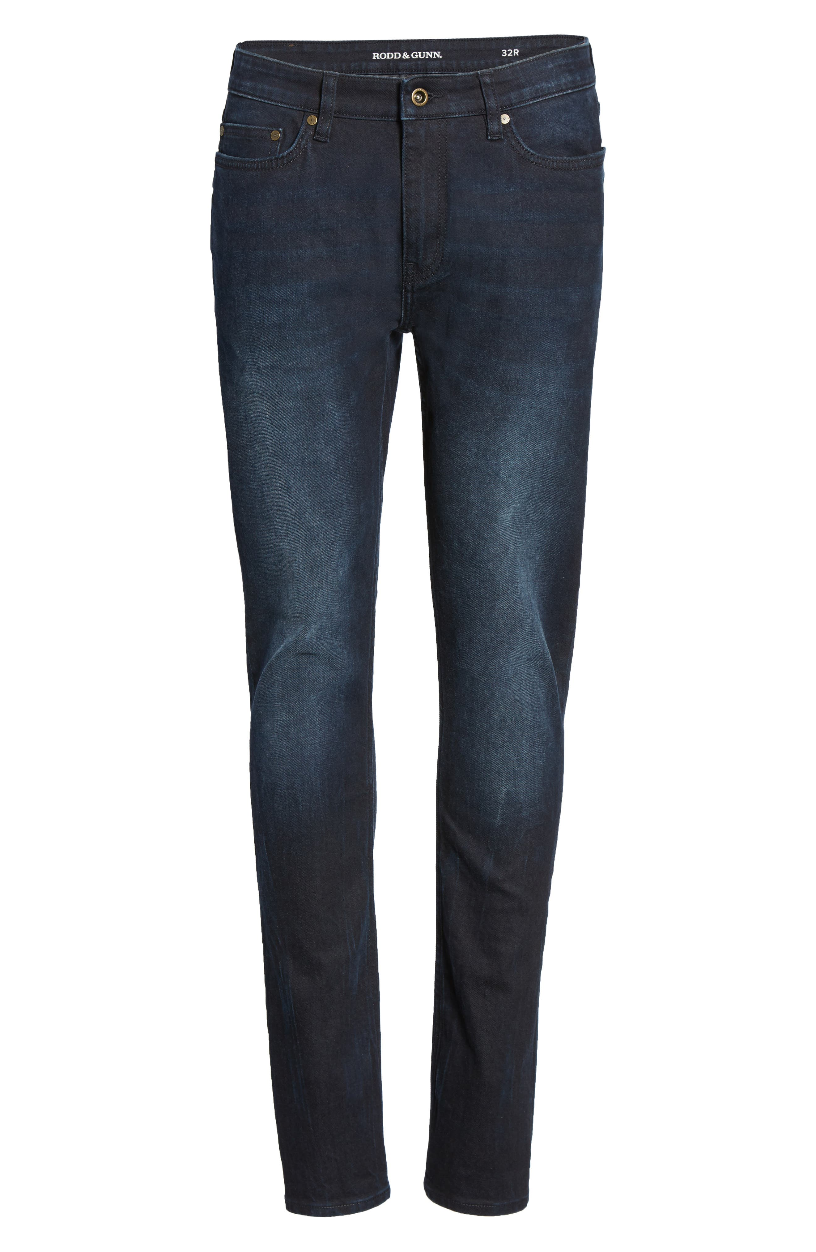 Mapleton Slim Fit Jeans,                             Alternate thumbnail 6, color,                             Denim