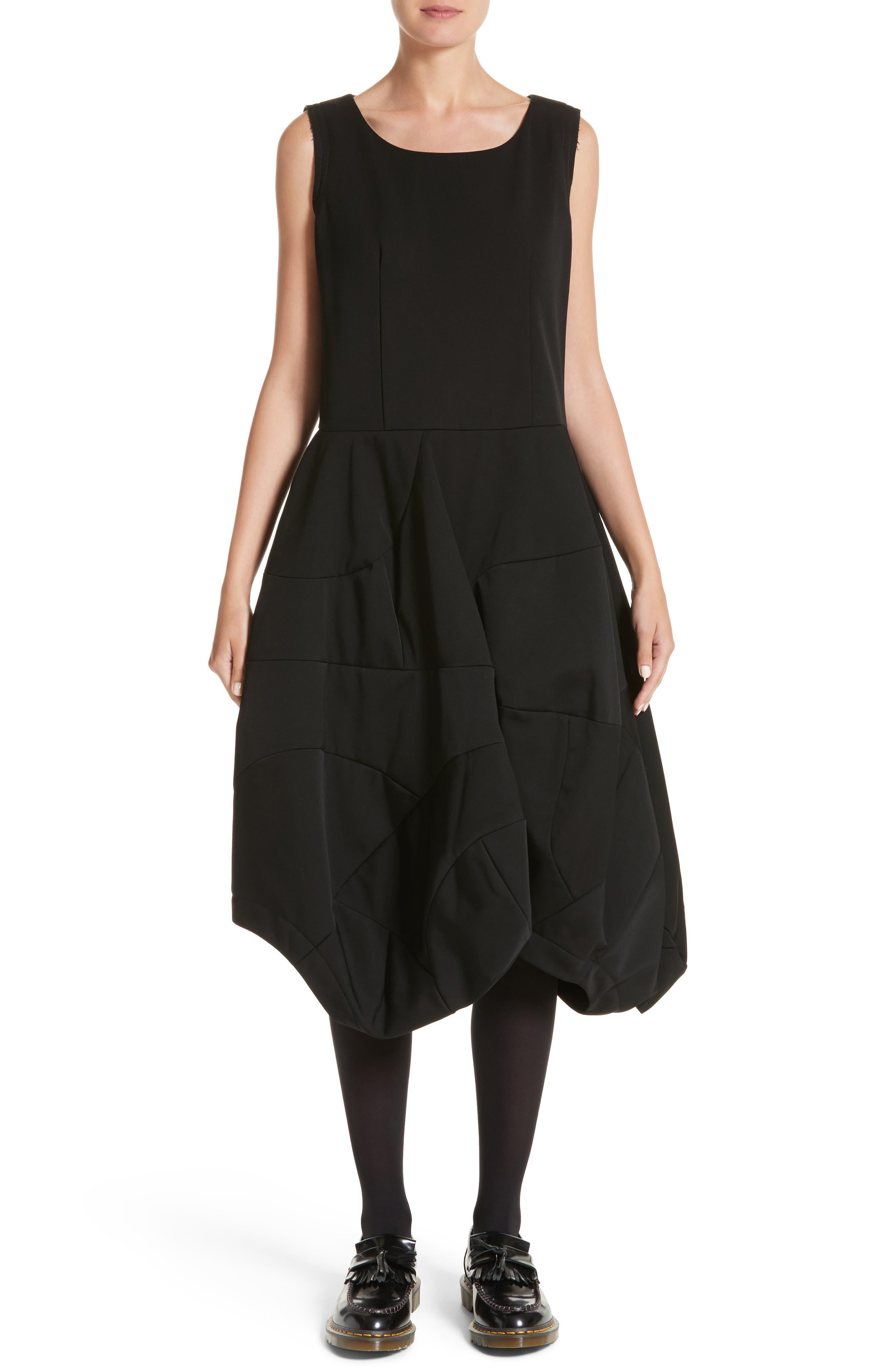 Bending Skirt Wool Dress,                             Main thumbnail 1, color,                             Black