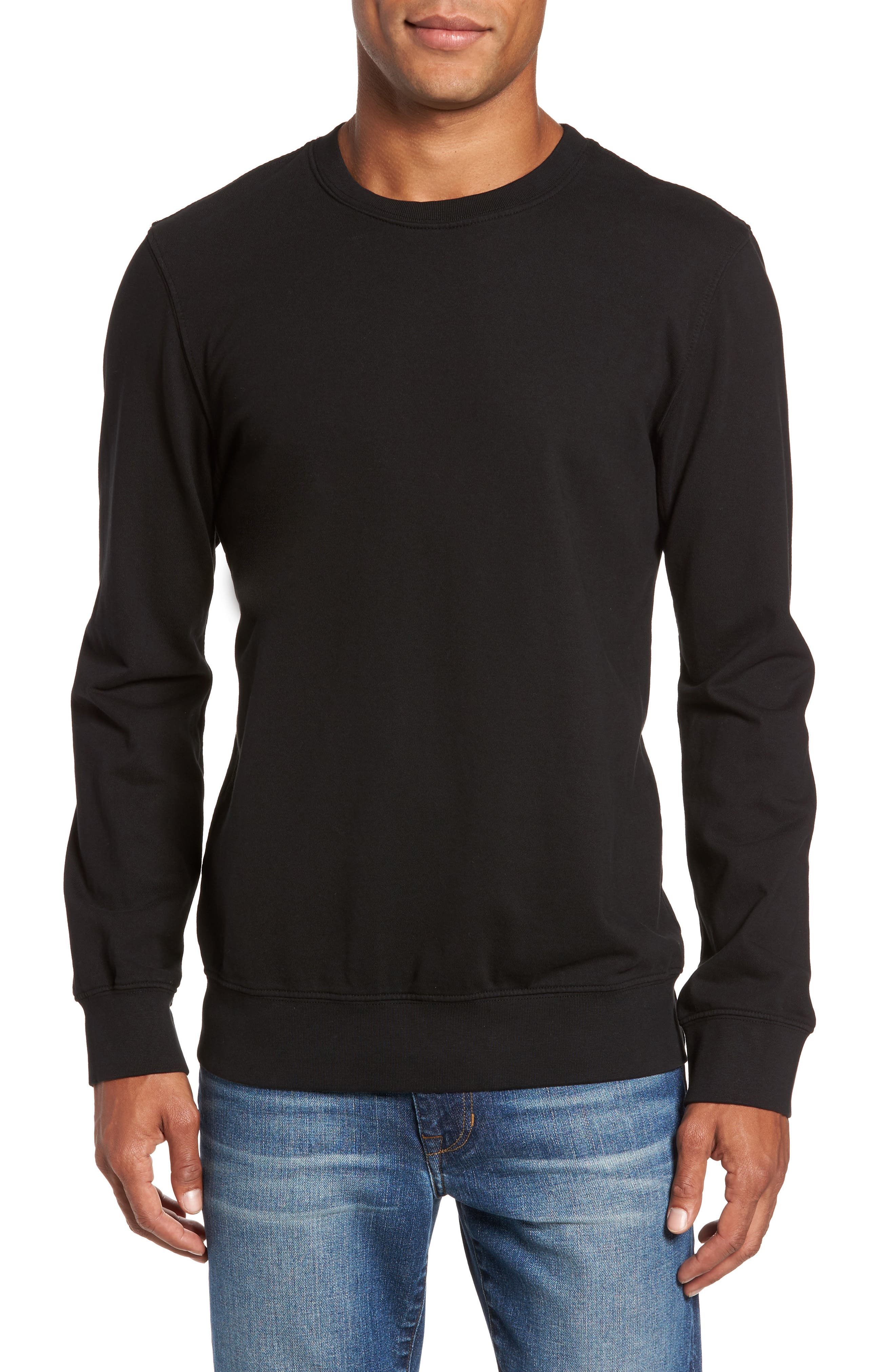 French Terry Sweatshirt,                         Main,                         color, Noir
