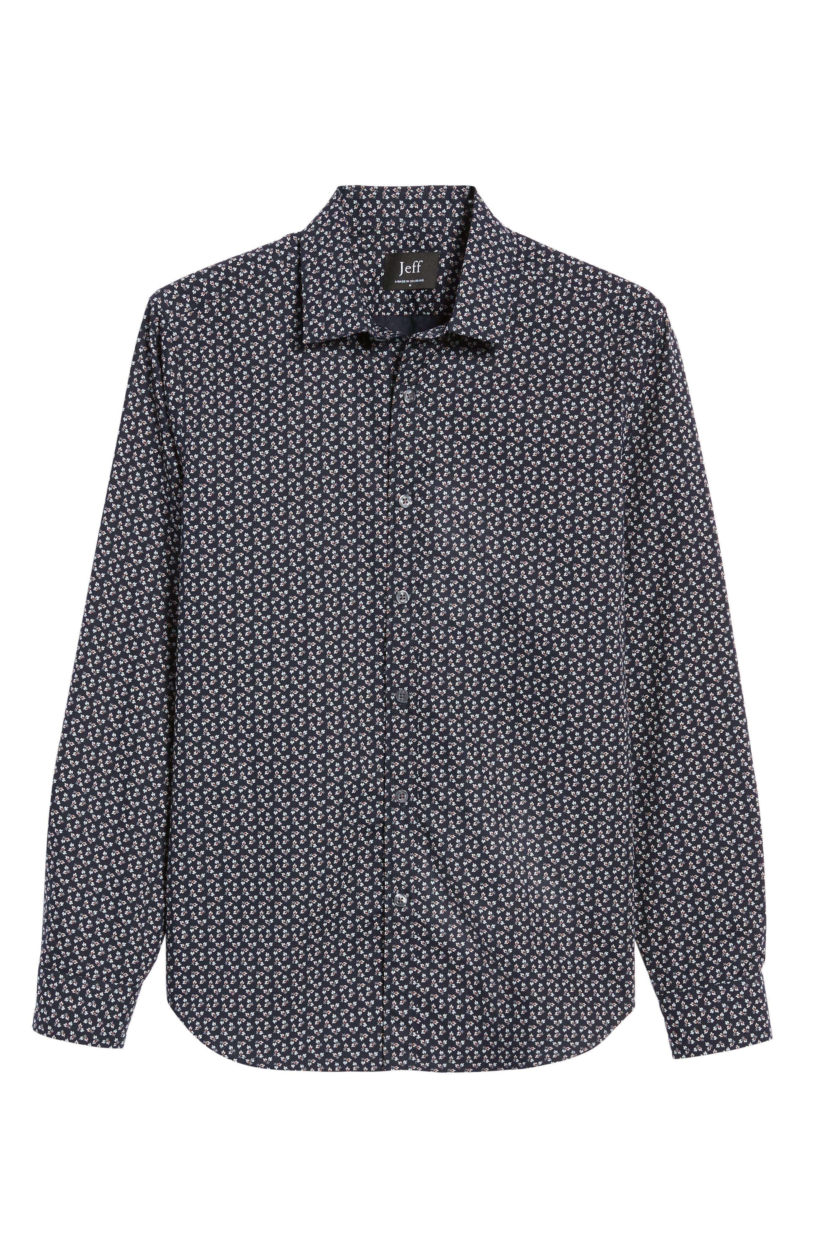 Alternate Image 5  - Jeff Slim Fit Floral Print Sport Shirt