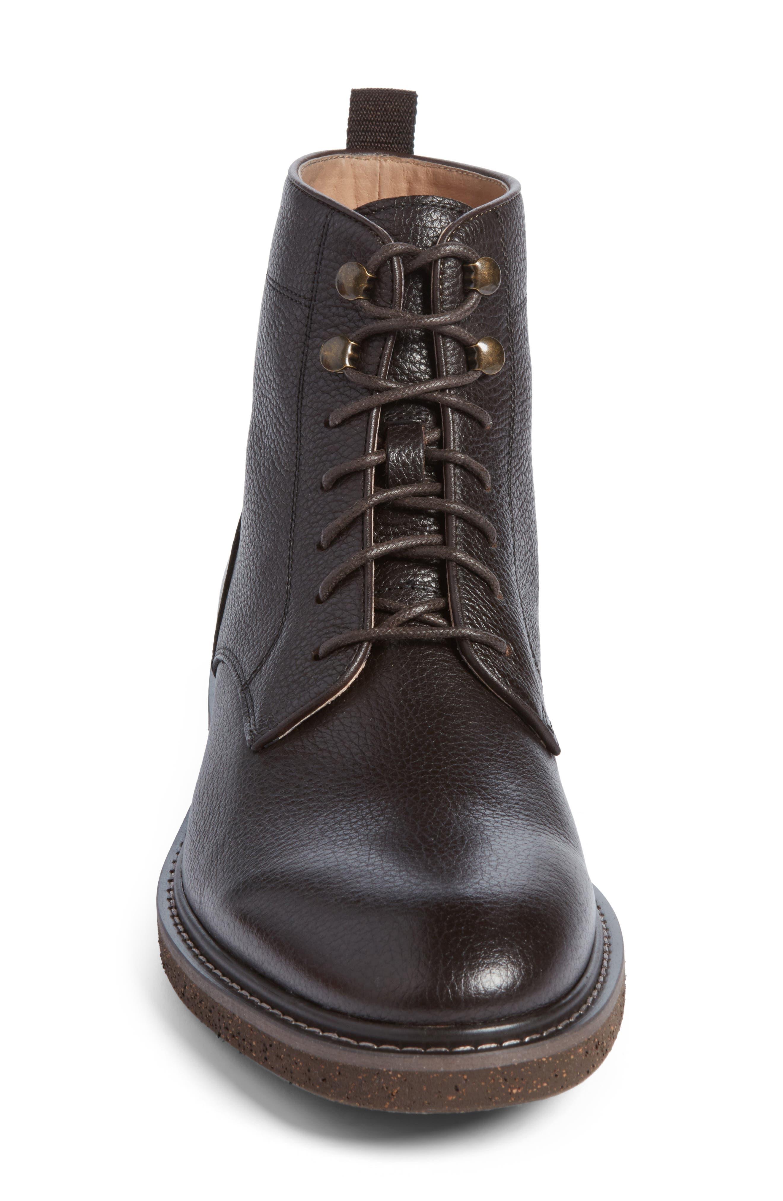 Trenton Plain Toe Boot,                             Alternate thumbnail 6, color,                             Chocolate Leather