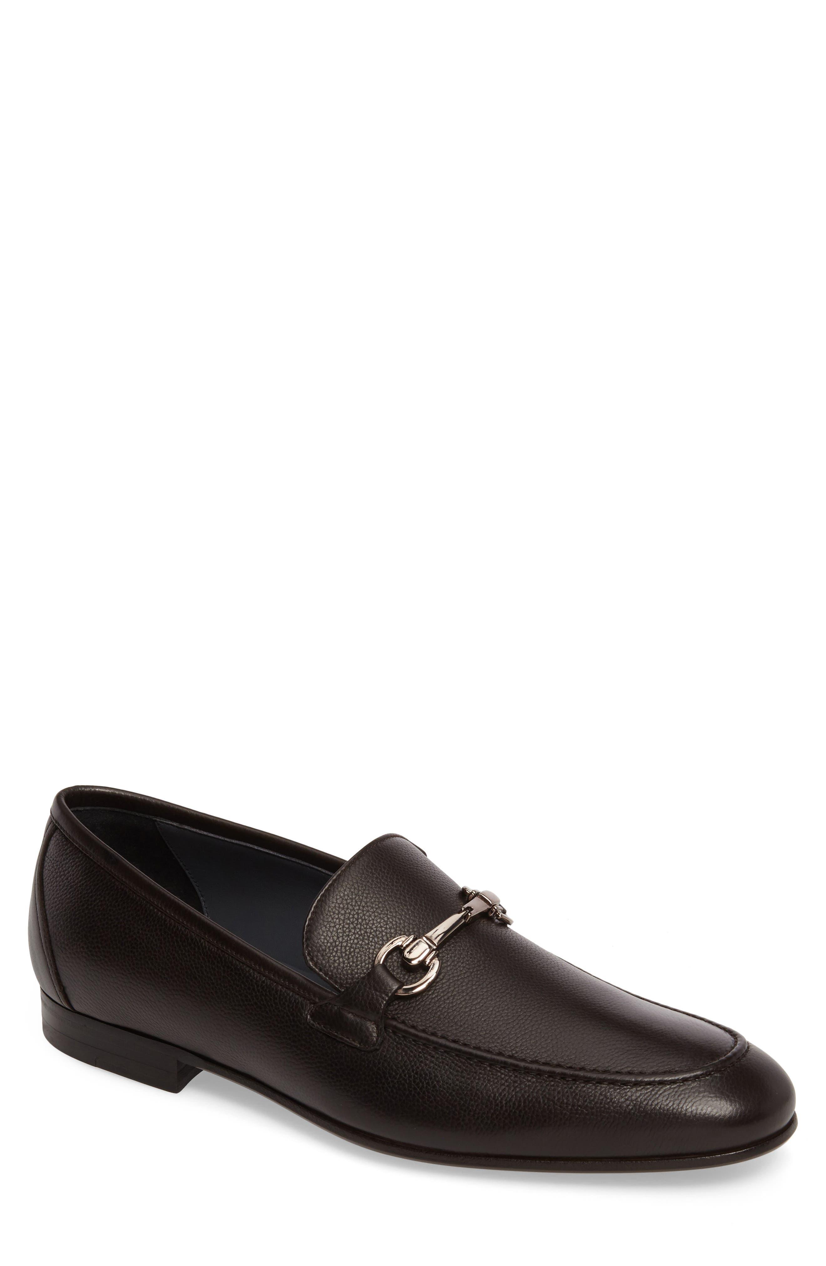 Brianza Bit Loafer,                         Main,                         color, Dark Brown Leather