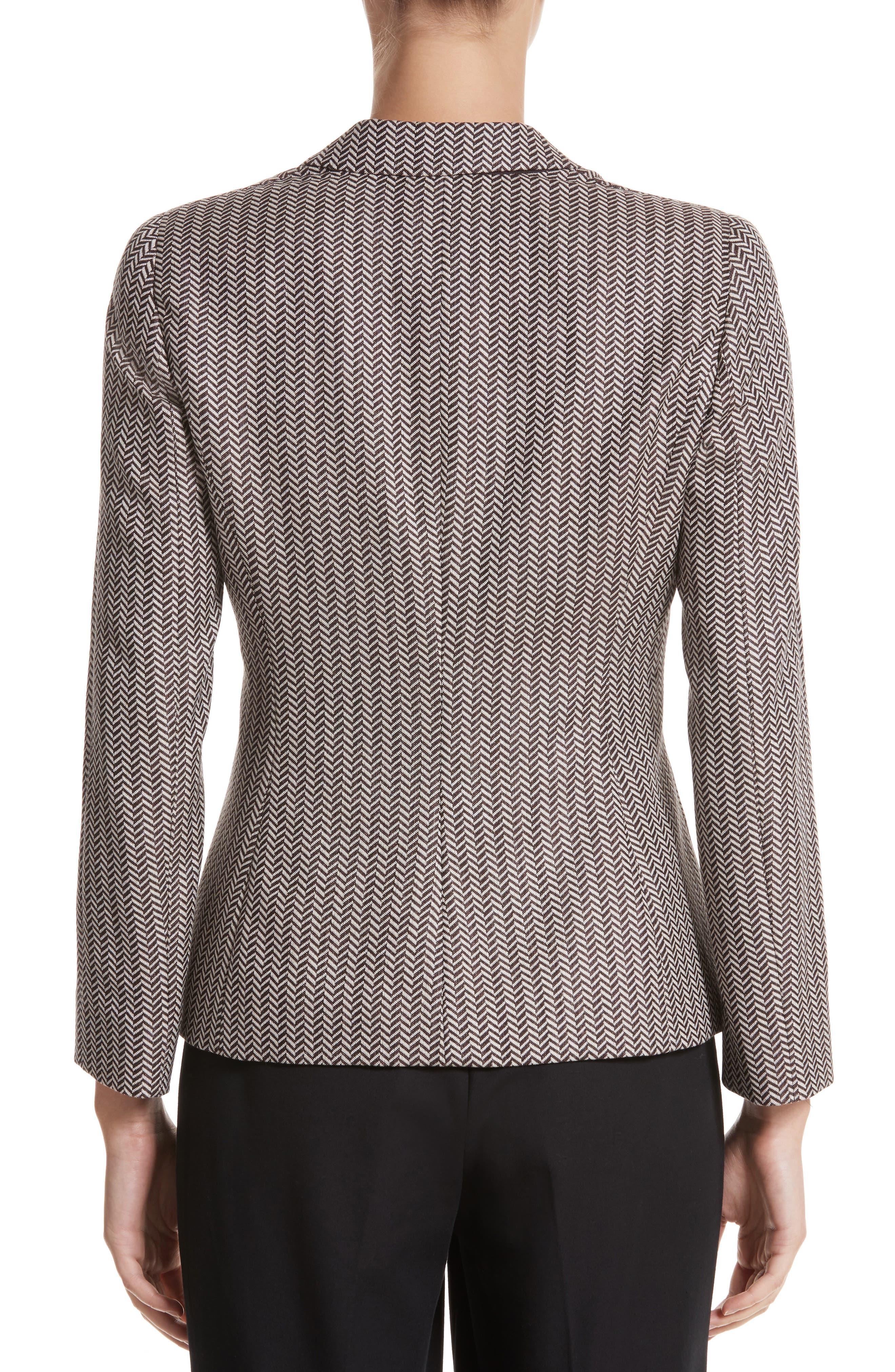 Alternate Image 2  - Armani Collezioni Mini Herringbone Jacket