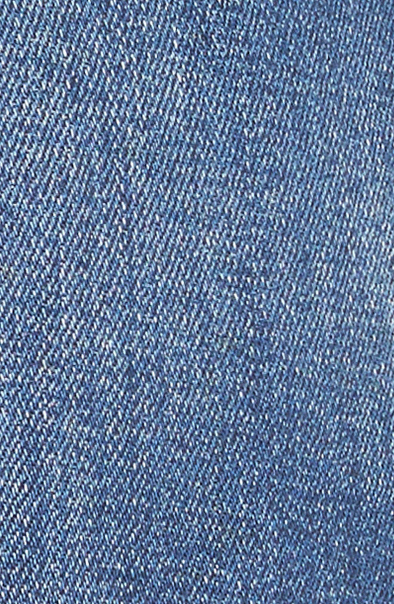 The Stiletto High Waist Skinny Jeans,                             Alternate thumbnail 5, color,                             Sahara Destroy
