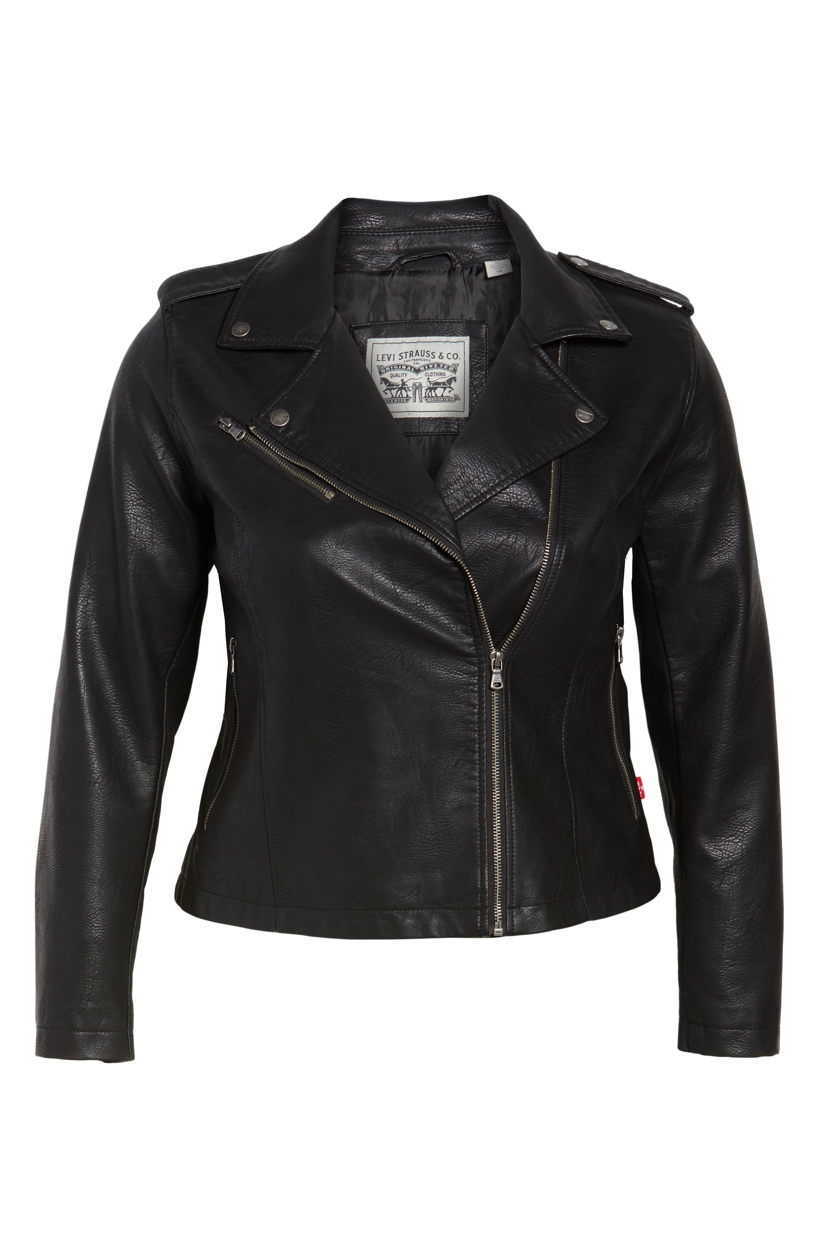 Alternate Image 6  - Levi's® Faux Leather Jacket (Plus Size)