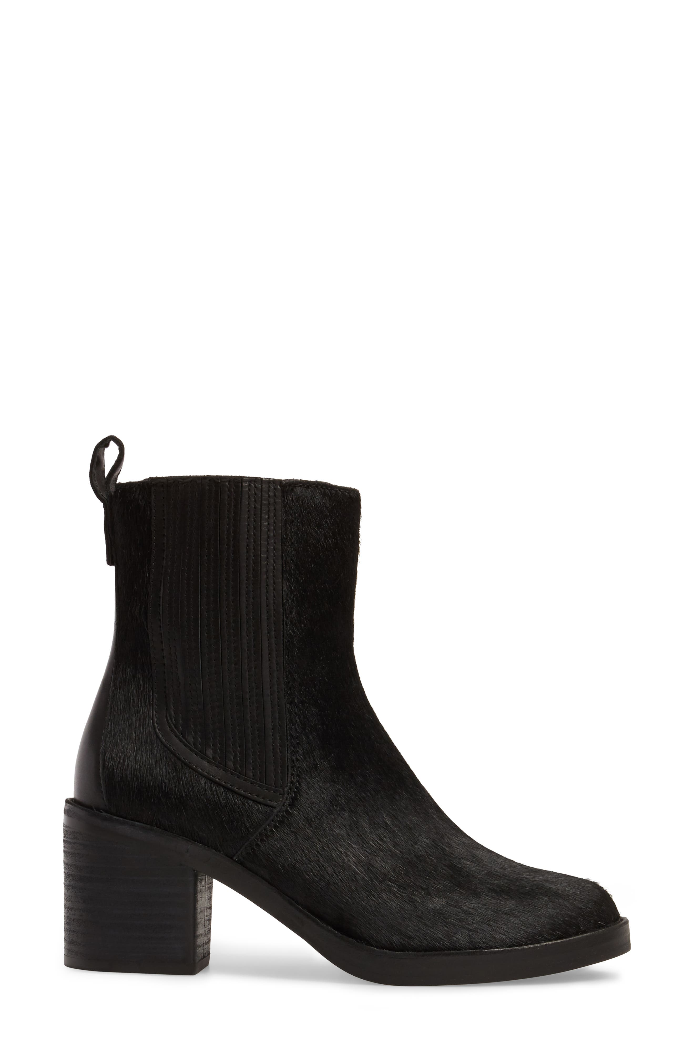 Camden Genuine Calf Hair Chelsea Boot,                             Alternate thumbnail 3, color,                             Black Calf Hair Leather