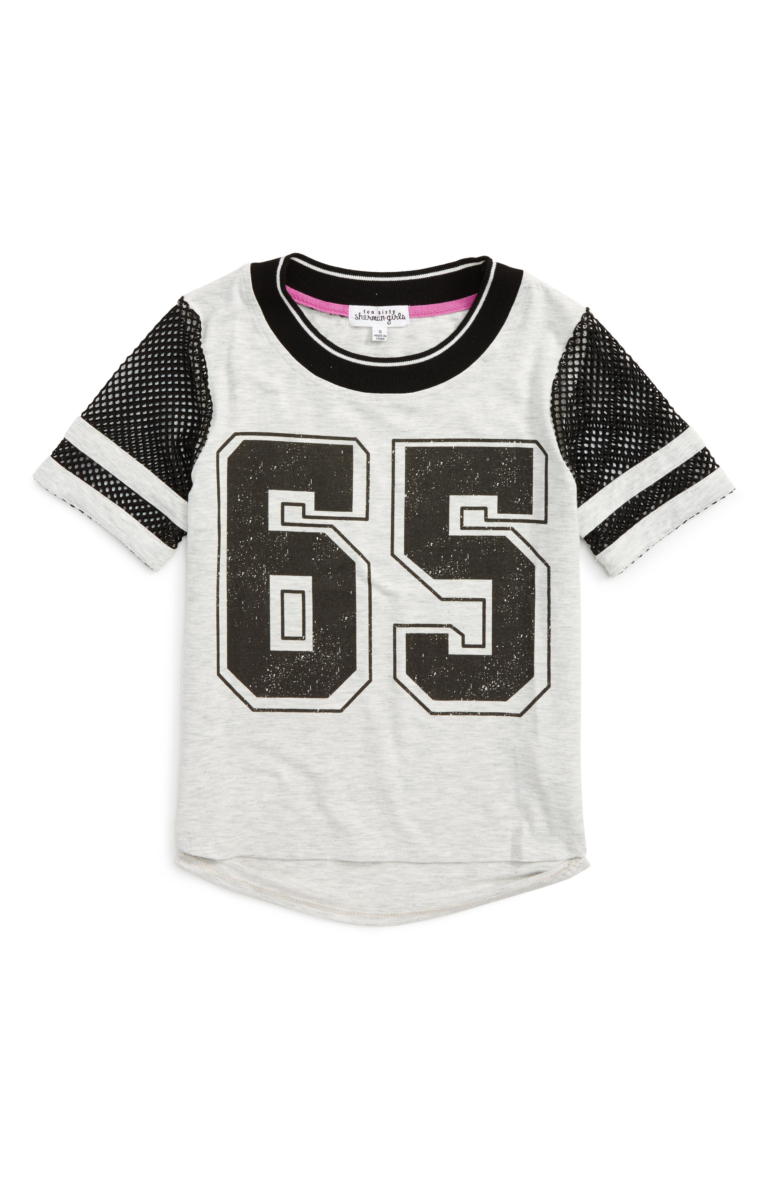 Ten Sixty Sherman Mesh Sleeve Graphic Tee (Big Girls)