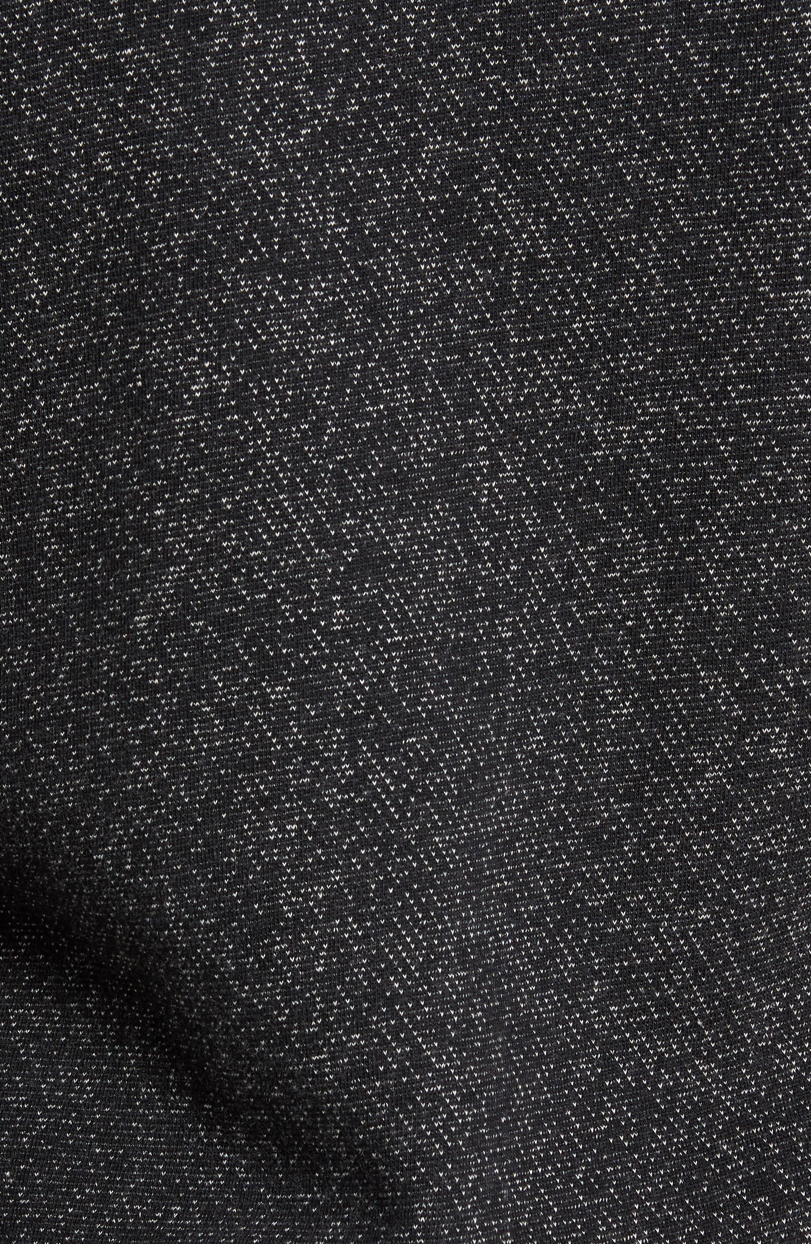 Tiger Zip Hoodie,                             Alternate thumbnail 6, color,                             Black