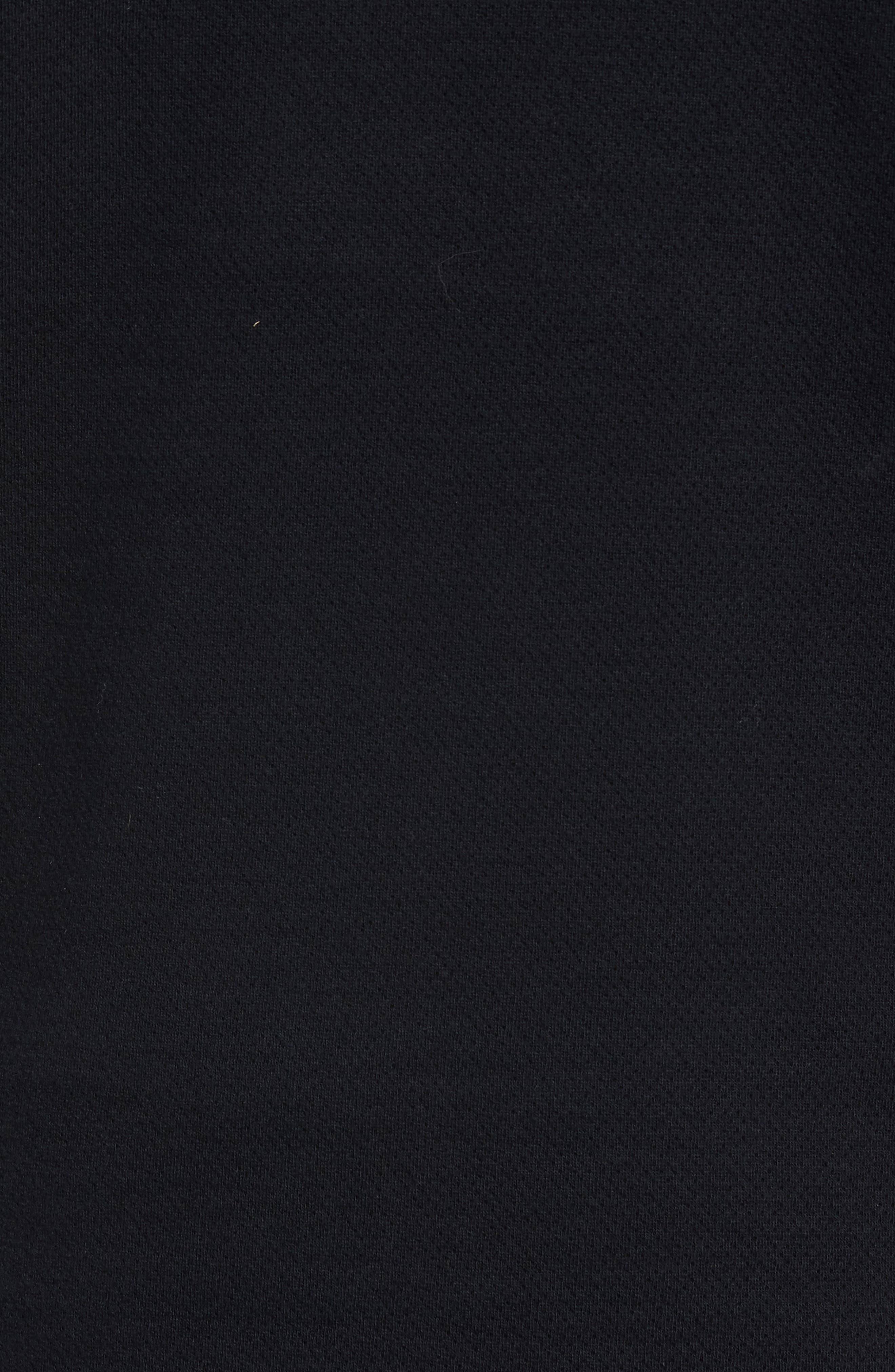 Mesh Half Zip Fleece Top,                             Alternate thumbnail 6, color,                             Black
