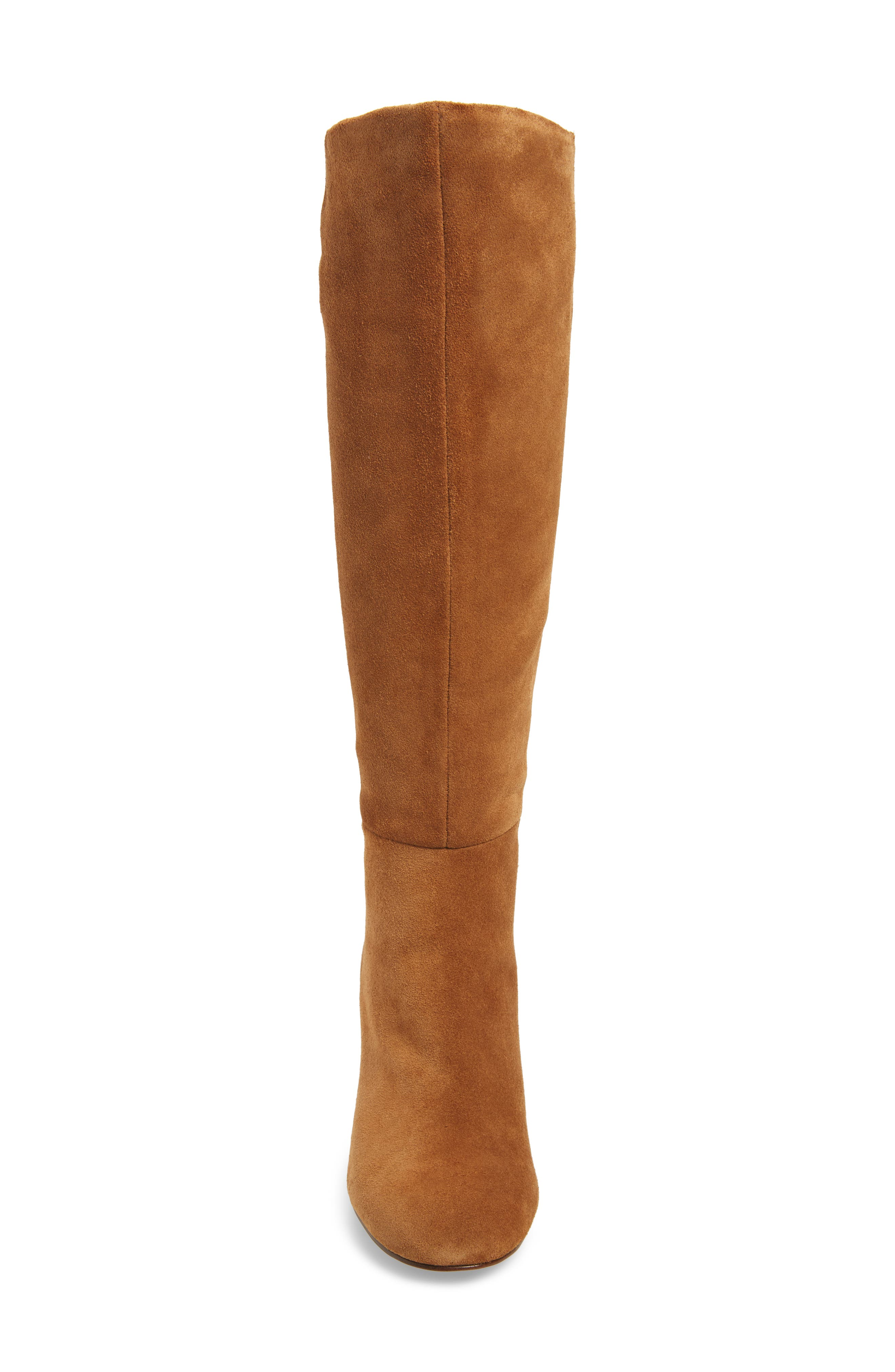 Danise Knee High Boot,                             Alternate thumbnail 4, color,                             Chestnut Suede
