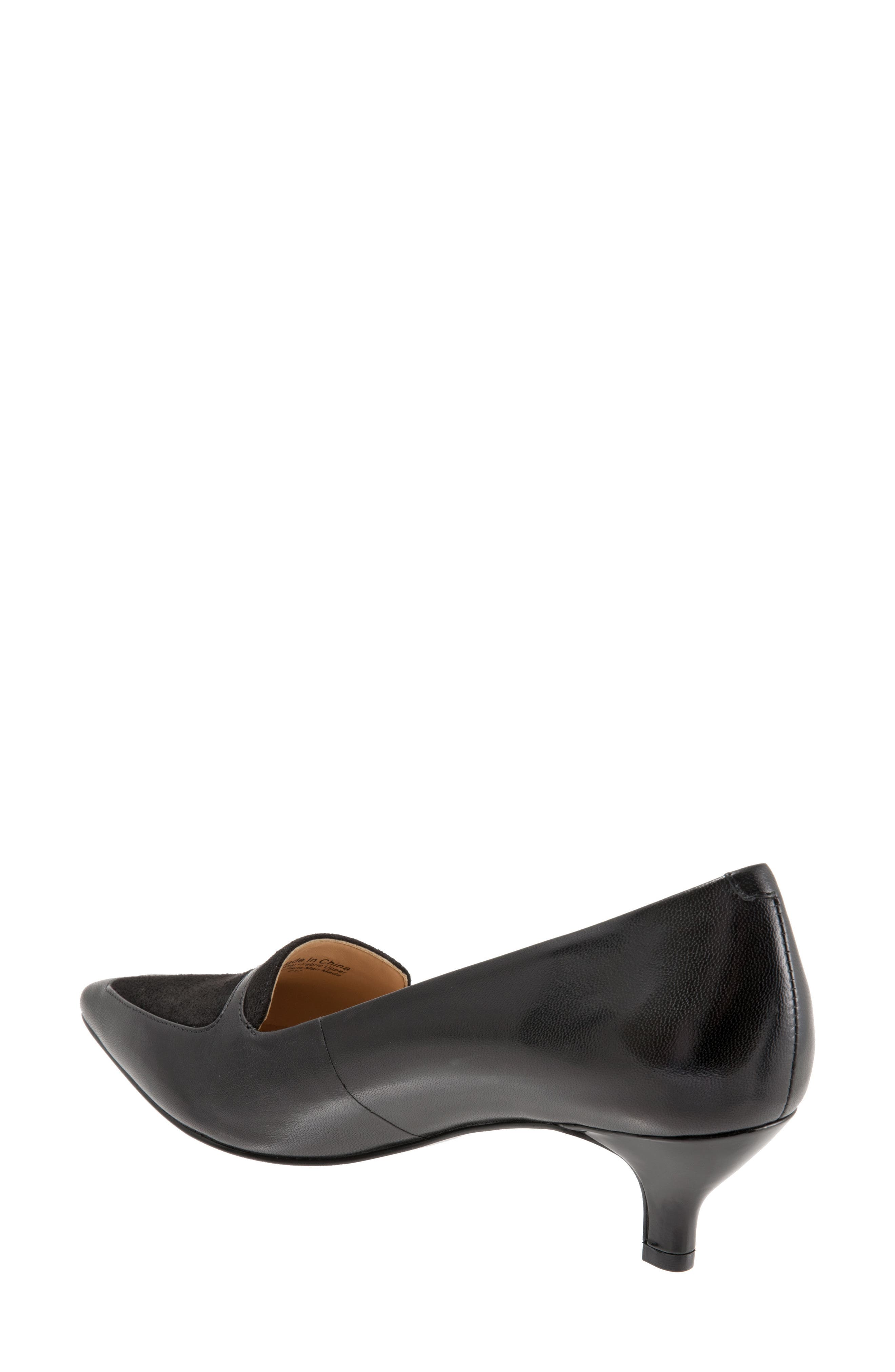 'Piper' Pointy Toe Pump,                             Alternate thumbnail 2, color,                             Black