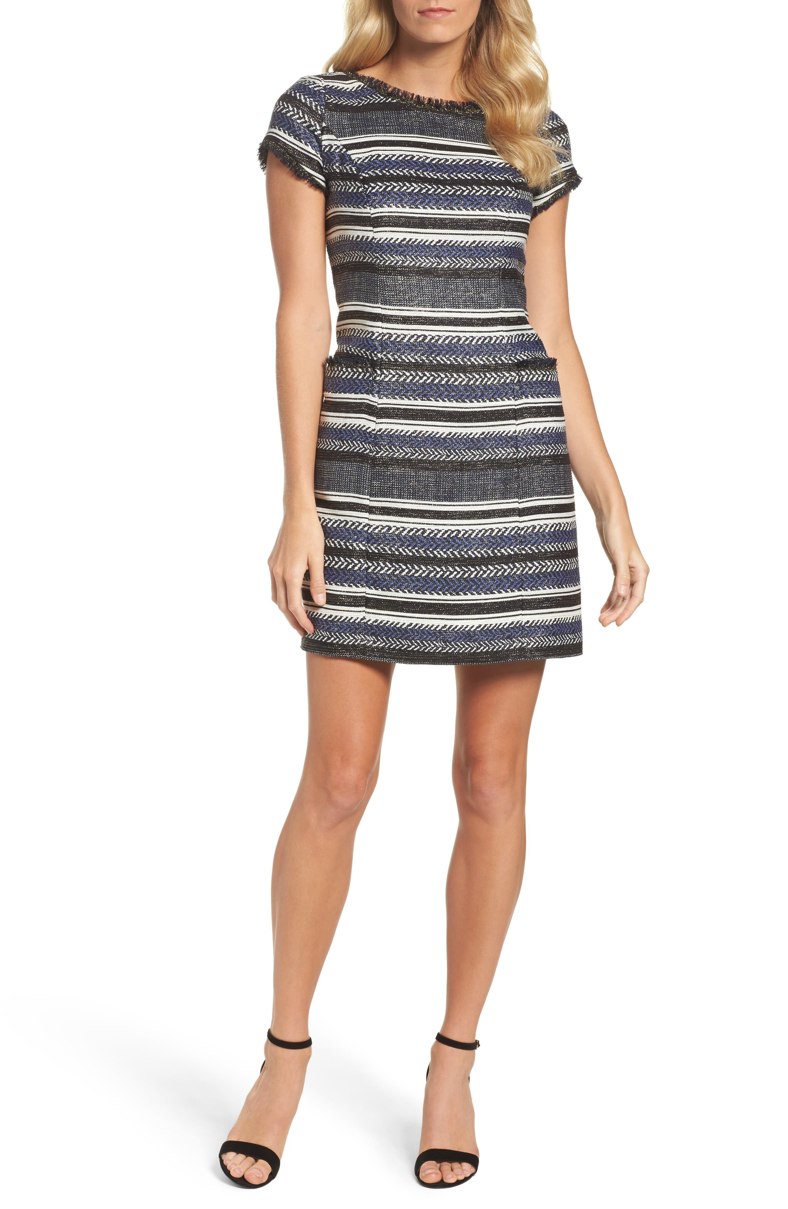 Alternate Image 1 Selected - Adrianna Papell Stripe Sheath Dress
