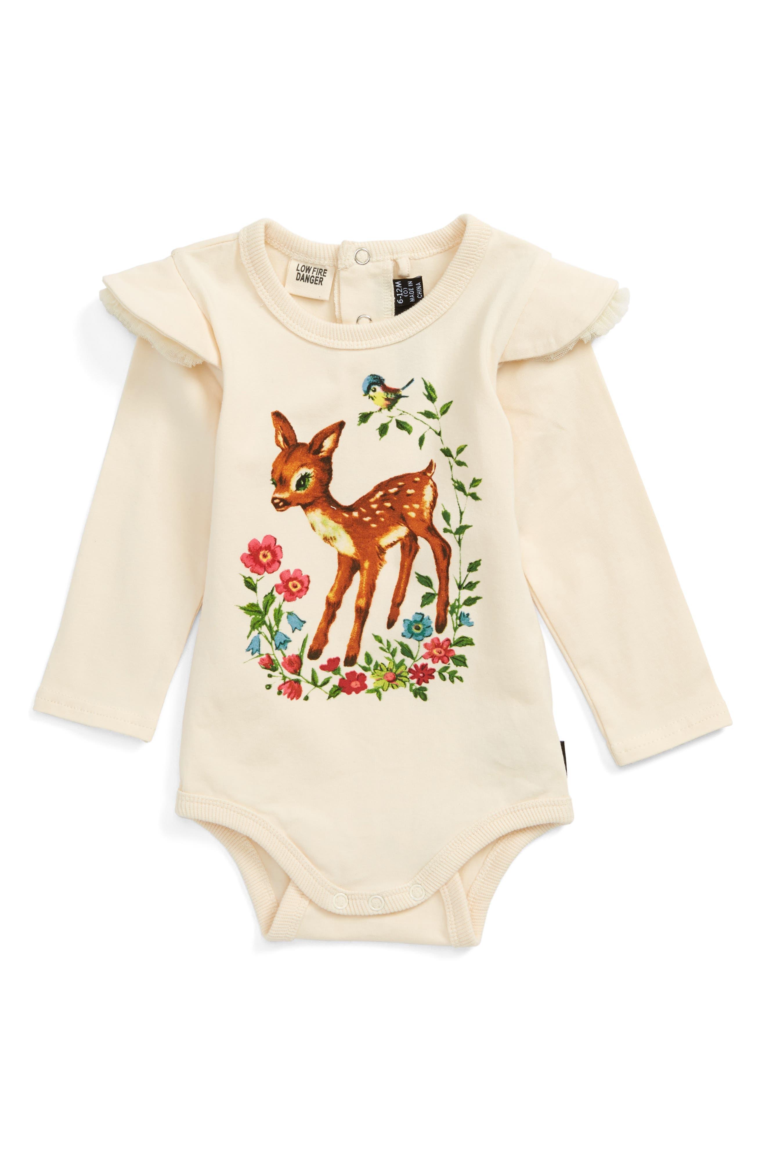 Alternate Image 1 Selected - Rock Your Baby Lulu & Lola Bodysuit (Baby Girls)