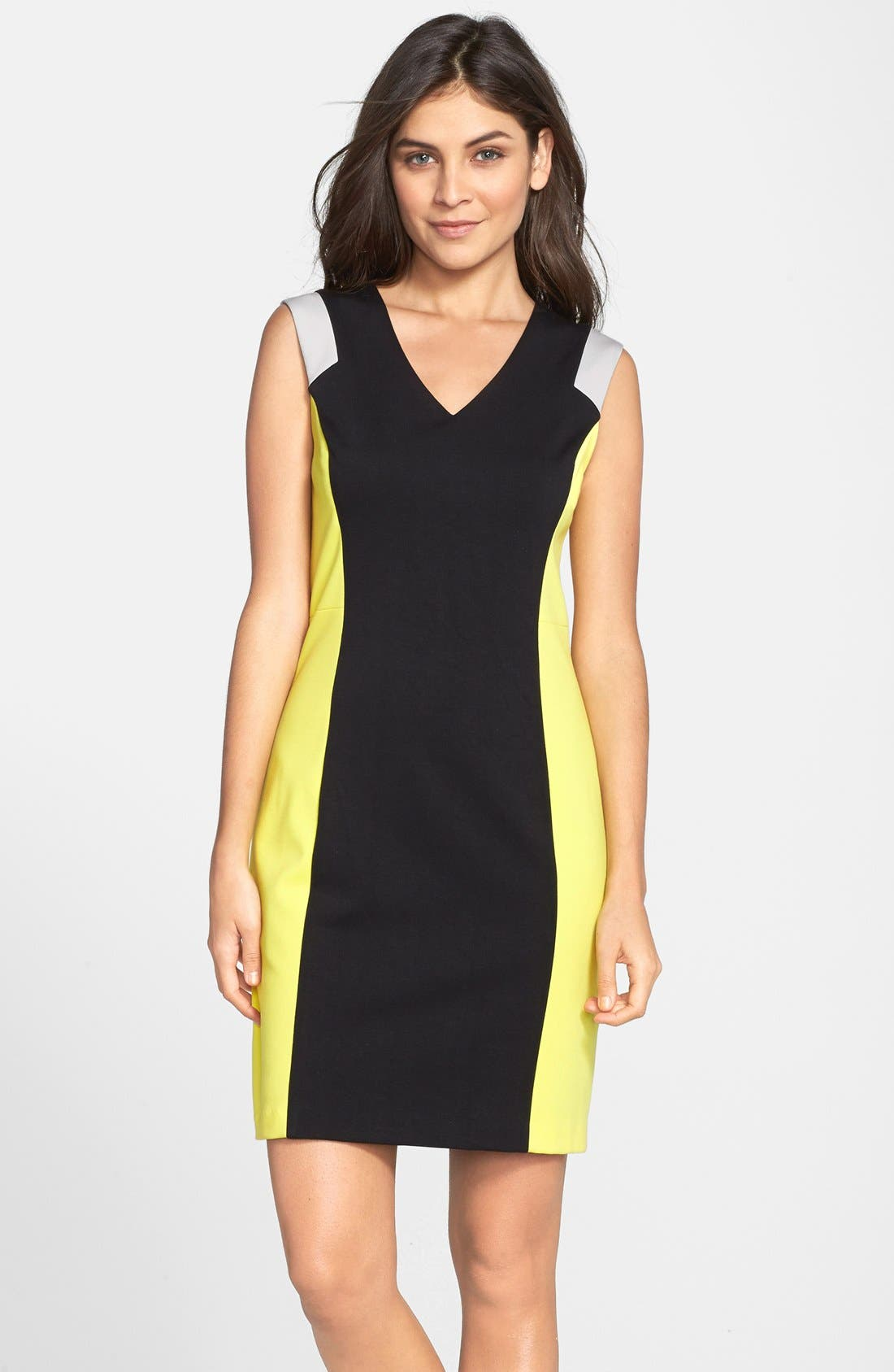 Marc new york by andrew marc color block sheath dress