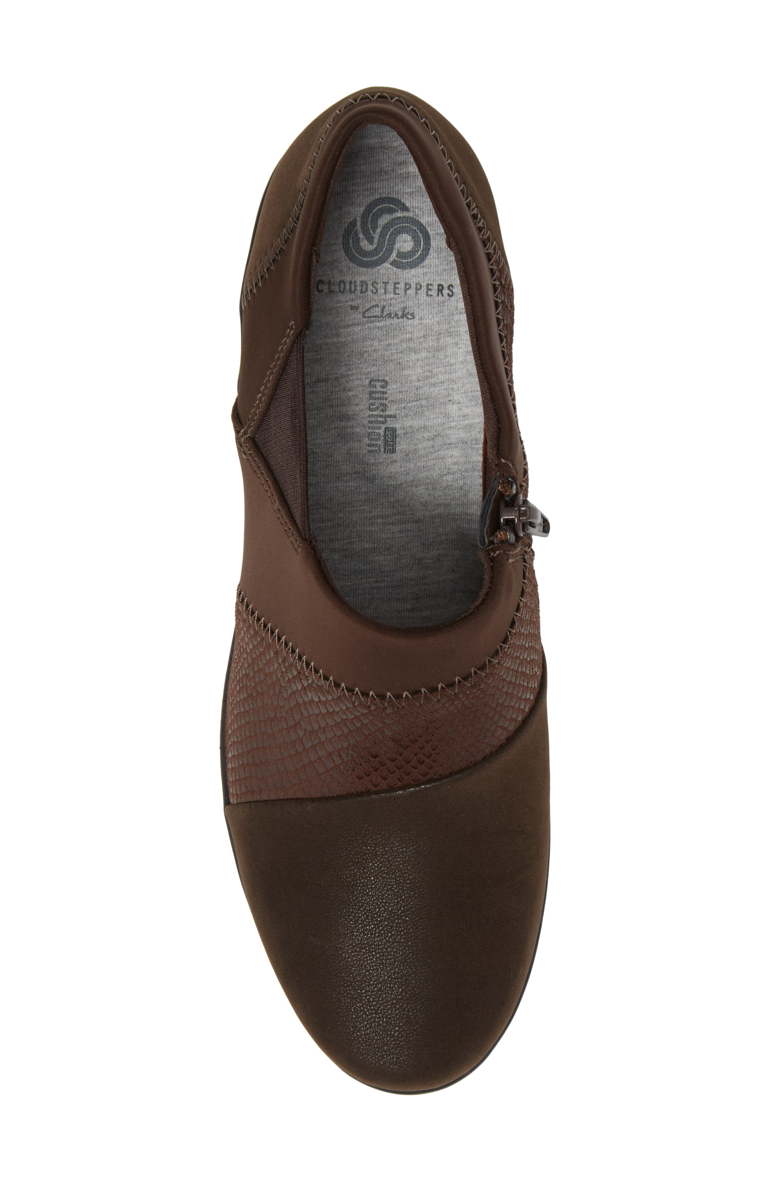 Caddell Denali Ankle Loafer,                             Alternate thumbnail 5, color,                             Brown Fabric