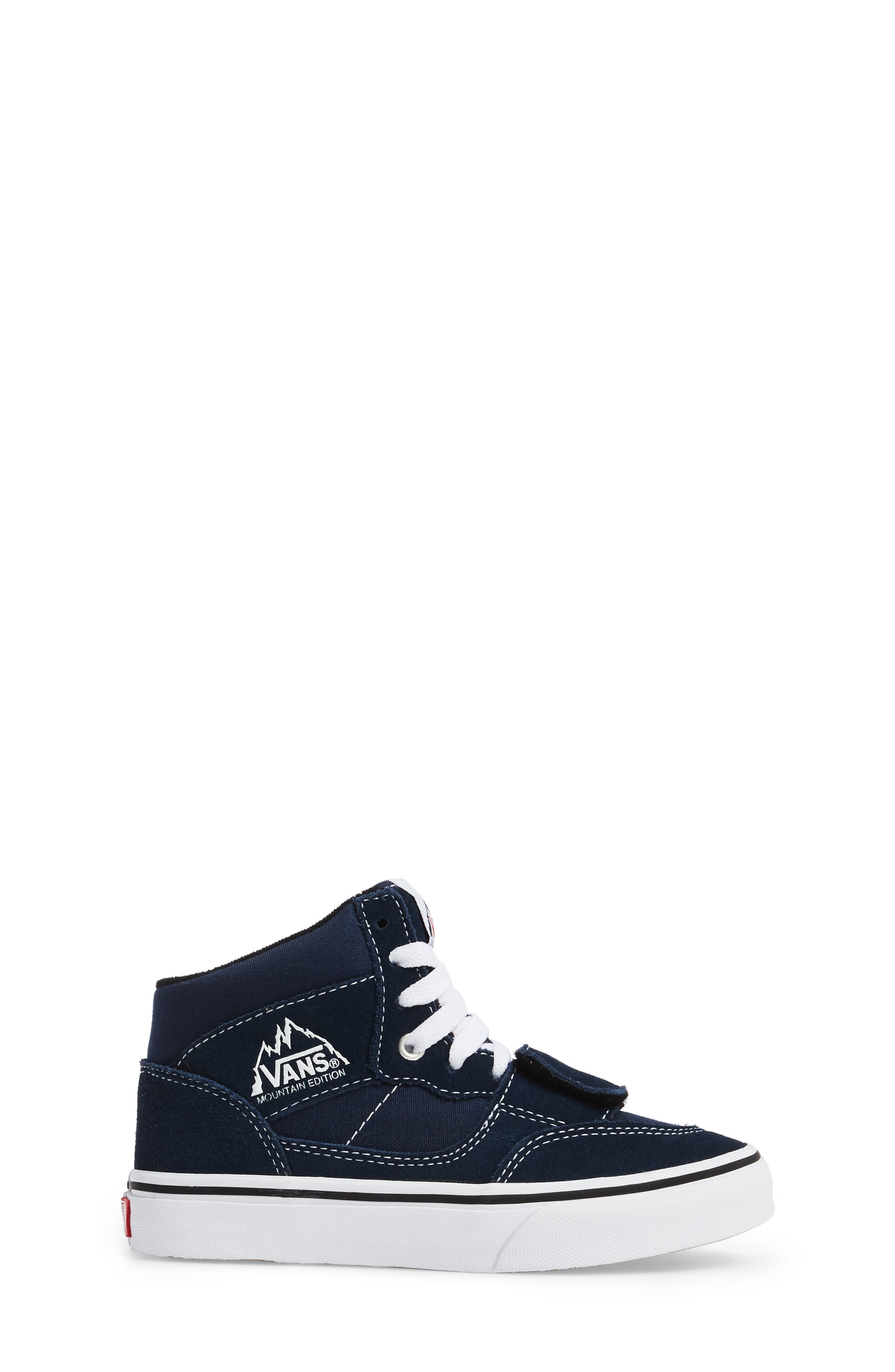 Mountain Edition Mid Top Sneaker,                             Alternate thumbnail 3, color,                             Dress Blue Canvas/ Suede